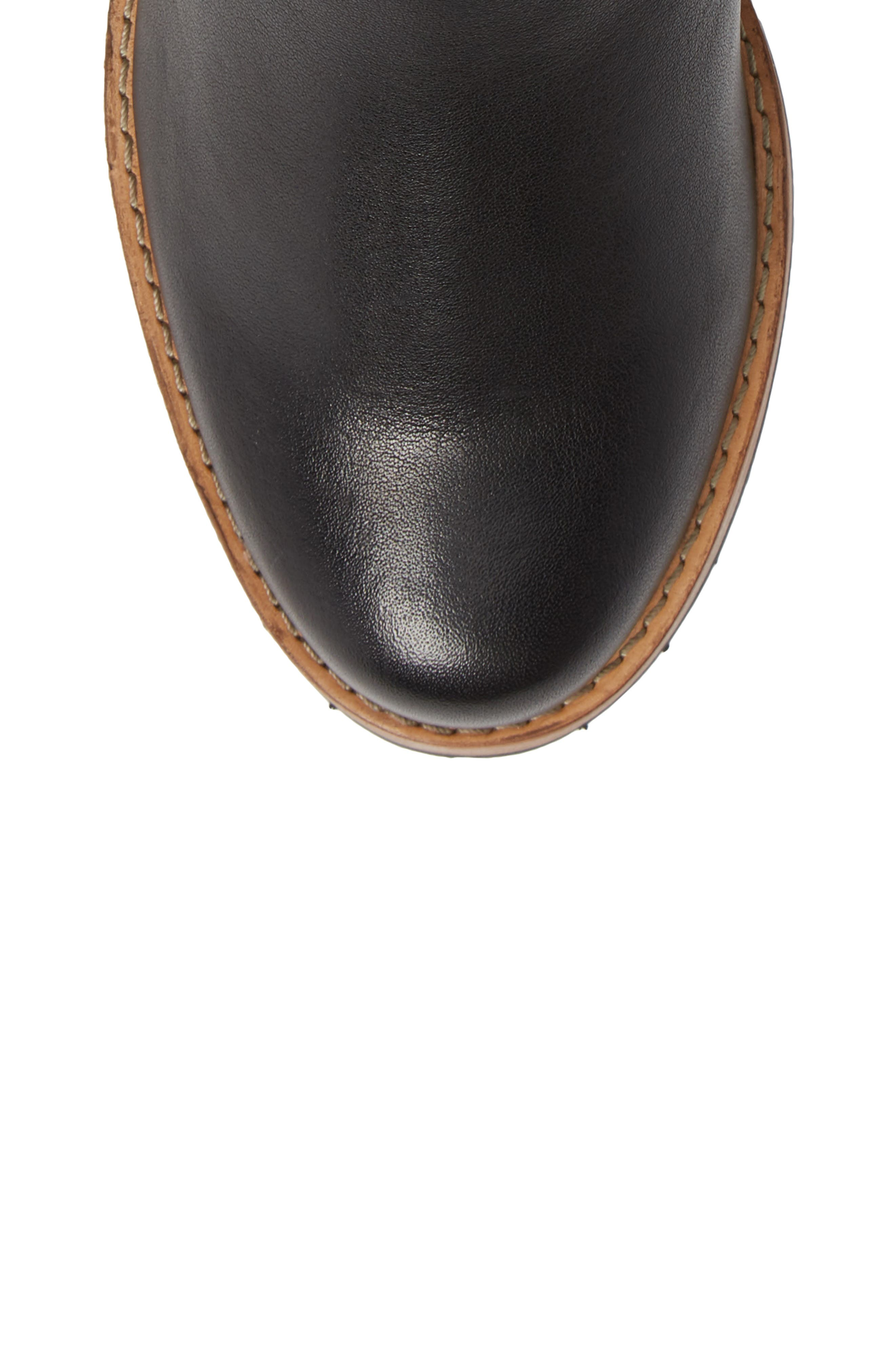 CLARKS<SUP>®</SUP>, Clarkdale Jax Bootie, Alternate thumbnail 5, color, BLACK LEATHER