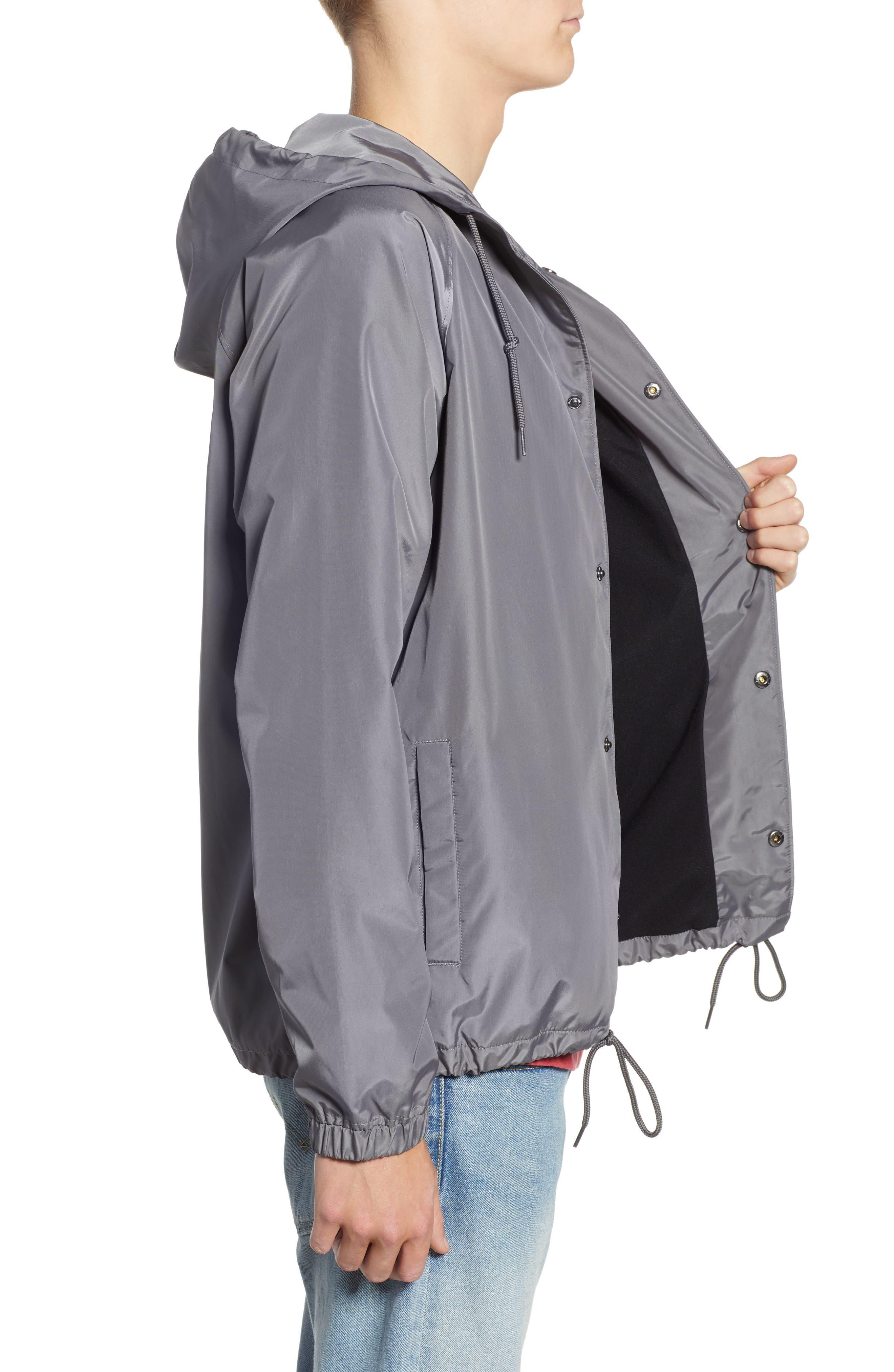 RVCA, VA Hooded Coach's Jacket, Alternate thumbnail 4, color, 026