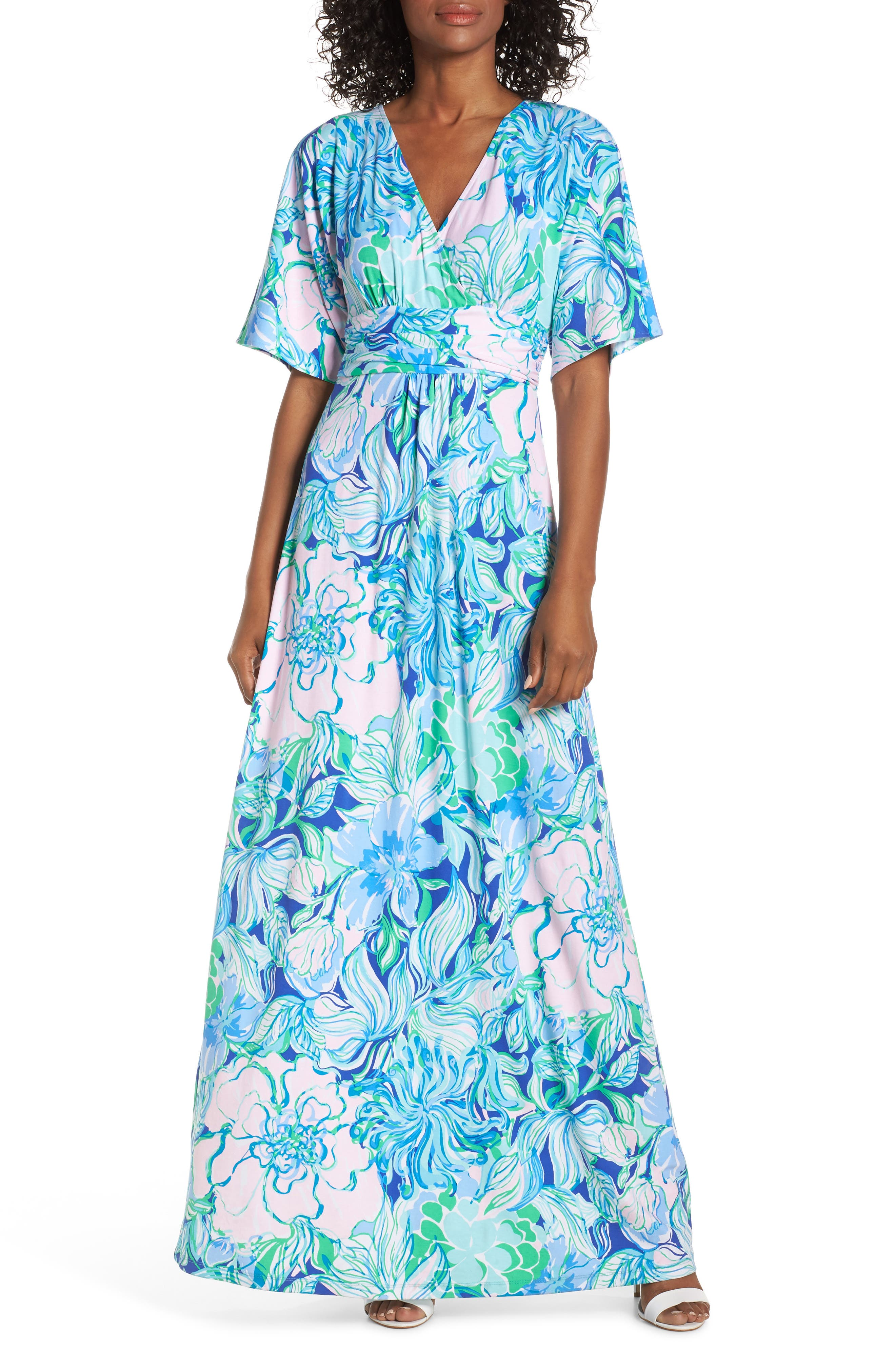 LILLY PULITZER<SUP>®</SUP>, Parigi Maxi Dress, Main thumbnail 1, color, MULTI PARTY THYME