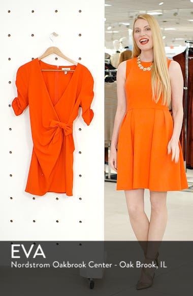 Cinch Sleeve Faux Wrap Dress, sales video thumbnail
