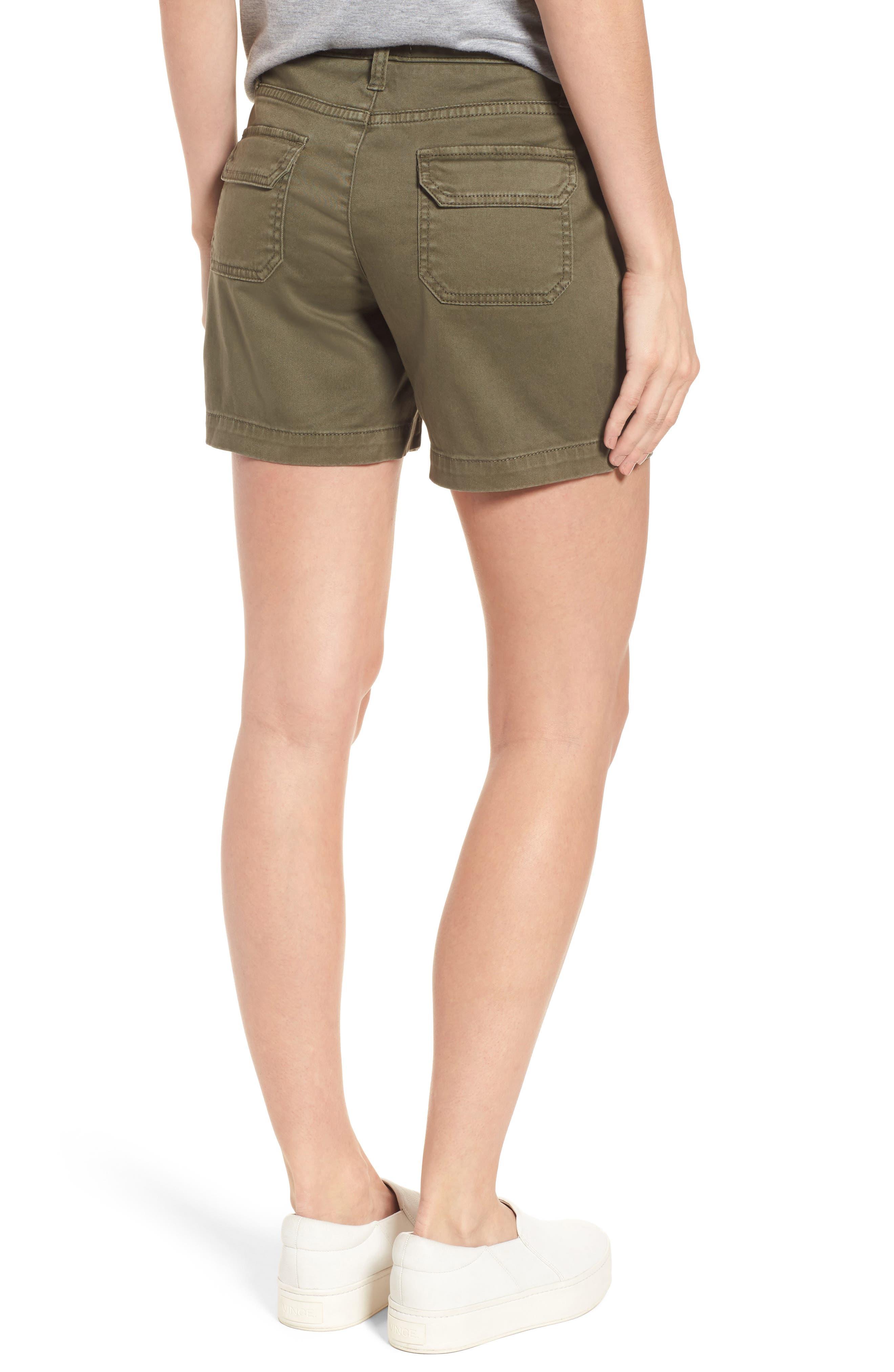 CASLON<SUP>®</SUP>, Utility Shorts, Alternate thumbnail 2, color, OLIVE SARMA