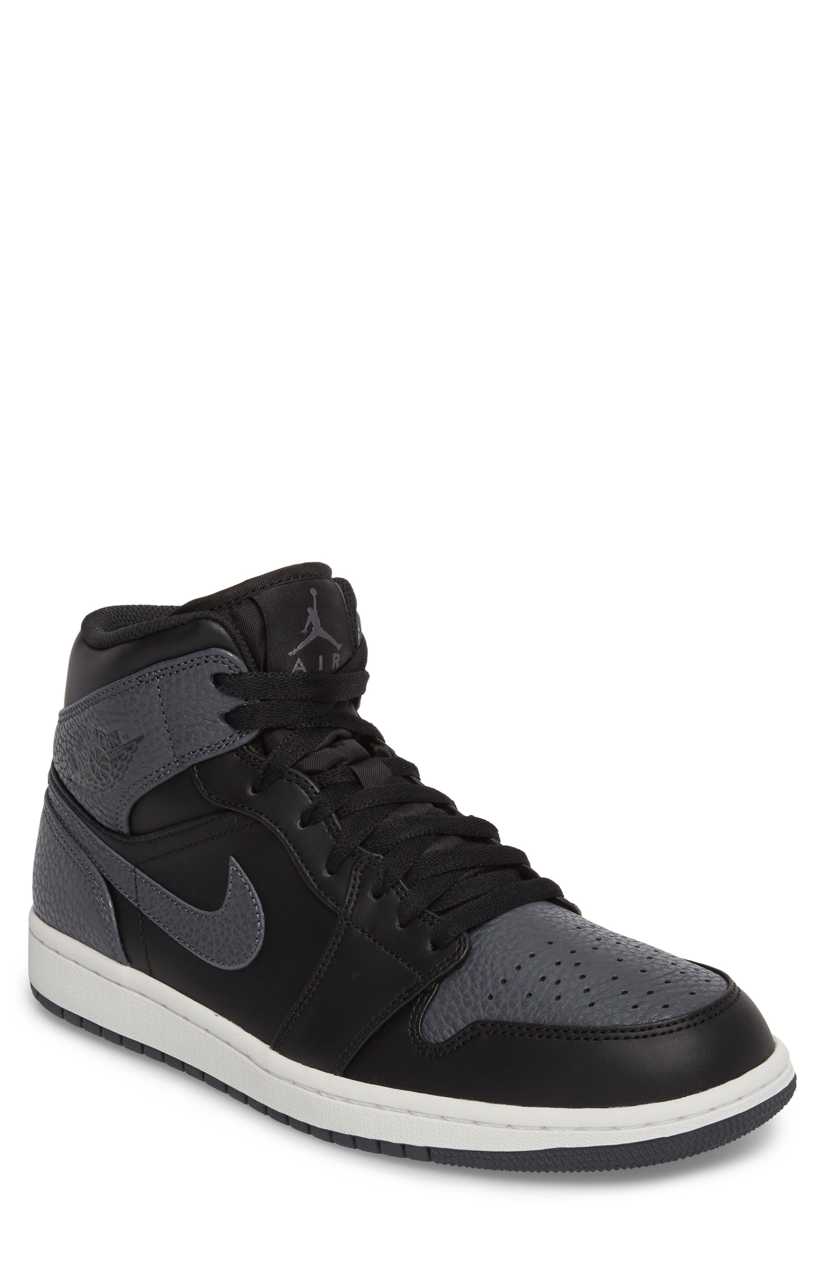 NIKE, 'Air Jordan 1 Mid' Sneaker, Main thumbnail 1, color, 001