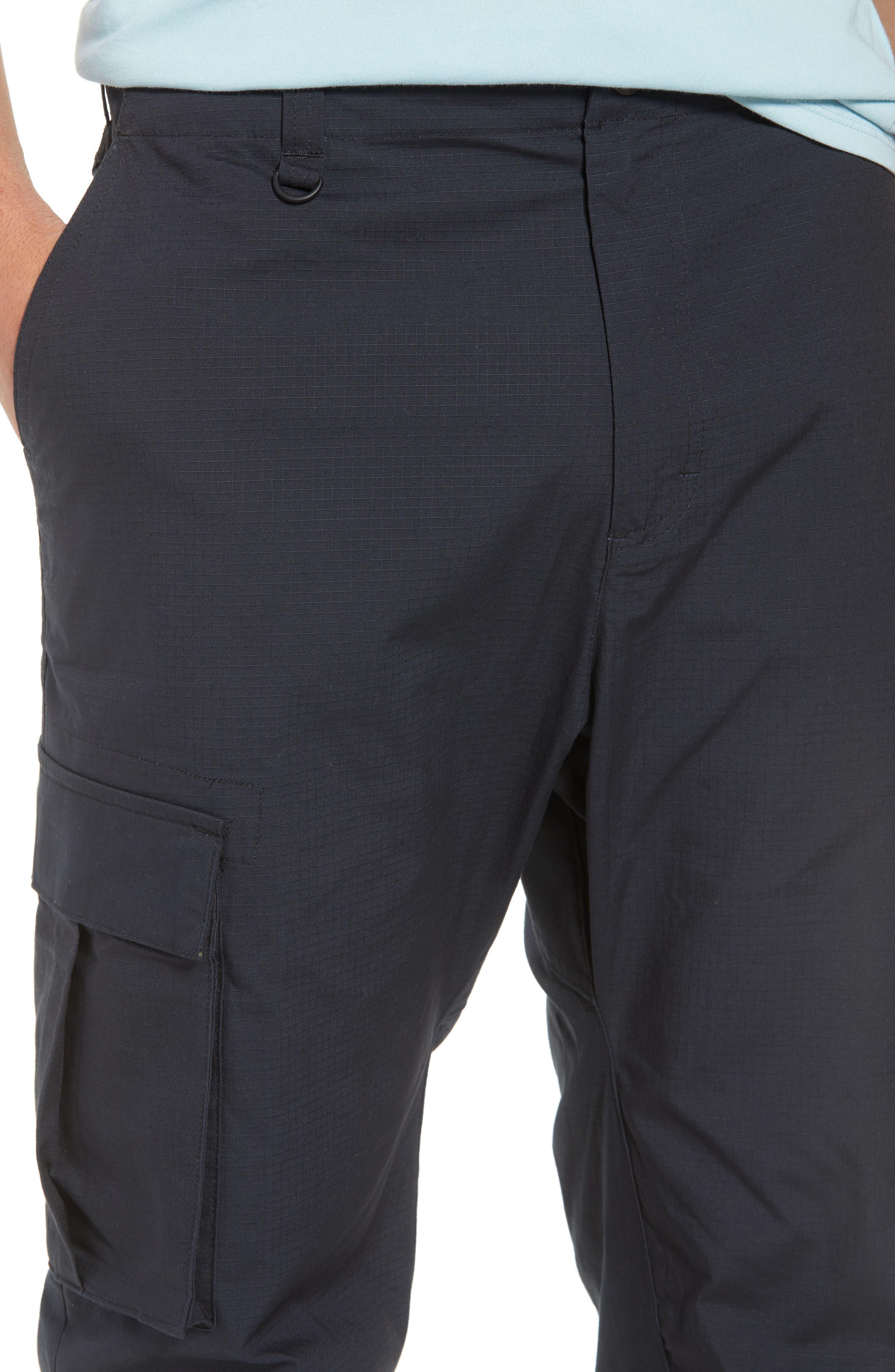 NIKE SB, Flex Cargo Pants, Alternate thumbnail 5, color, BLACK
