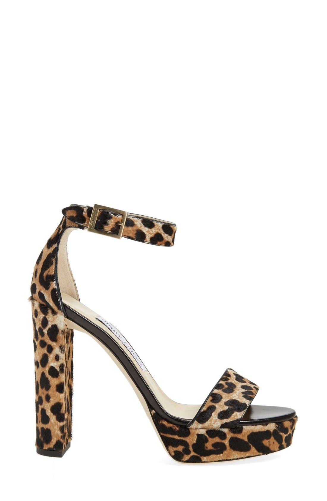 JIMMY CHOO, 'Holly' Ankle Strap Sandal, Alternate thumbnail 2, color, 200