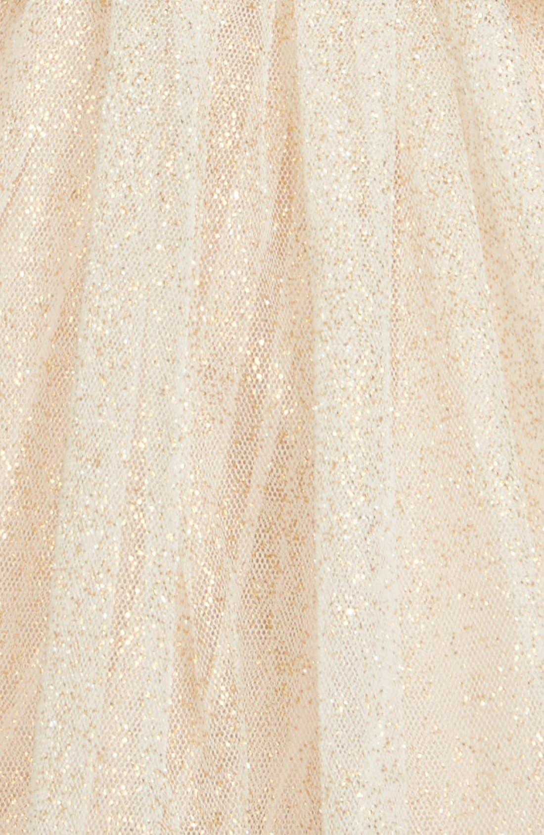 POPATU, Sequin Cap Sleeve Dress, Alternate thumbnail 3, color, GOLD
