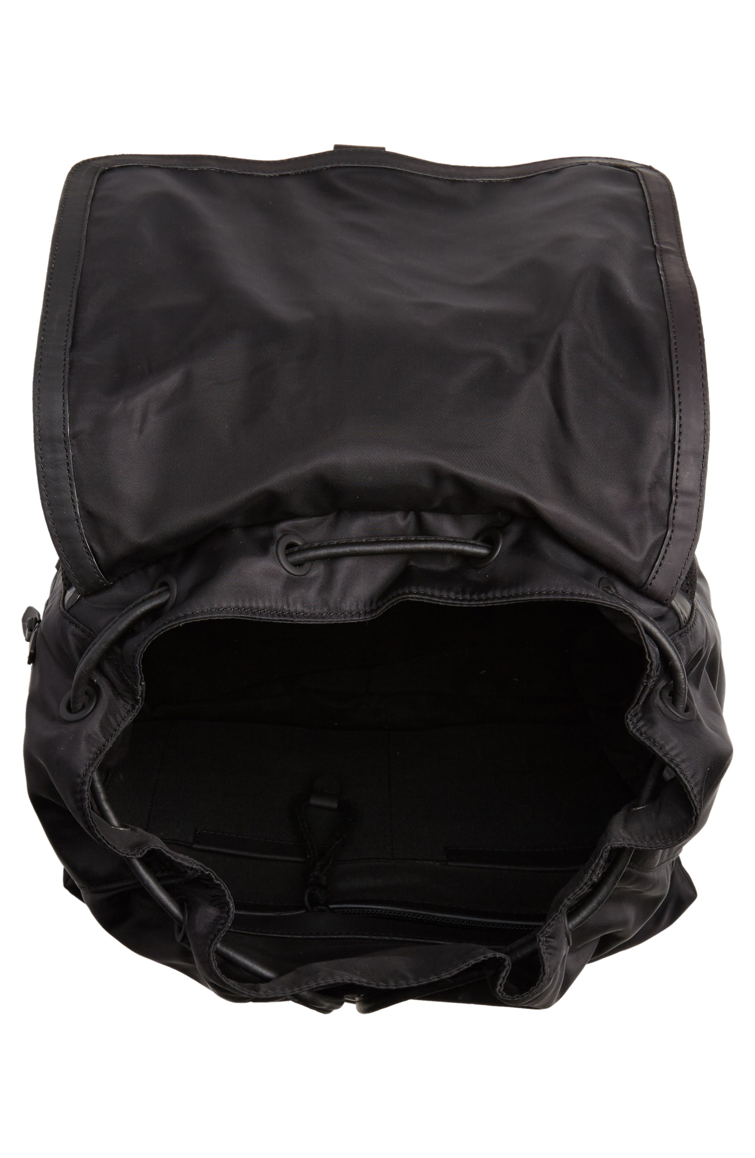 COLE HAAN, ZeroGrand Backpack, Alternate thumbnail 4, color, BLACK