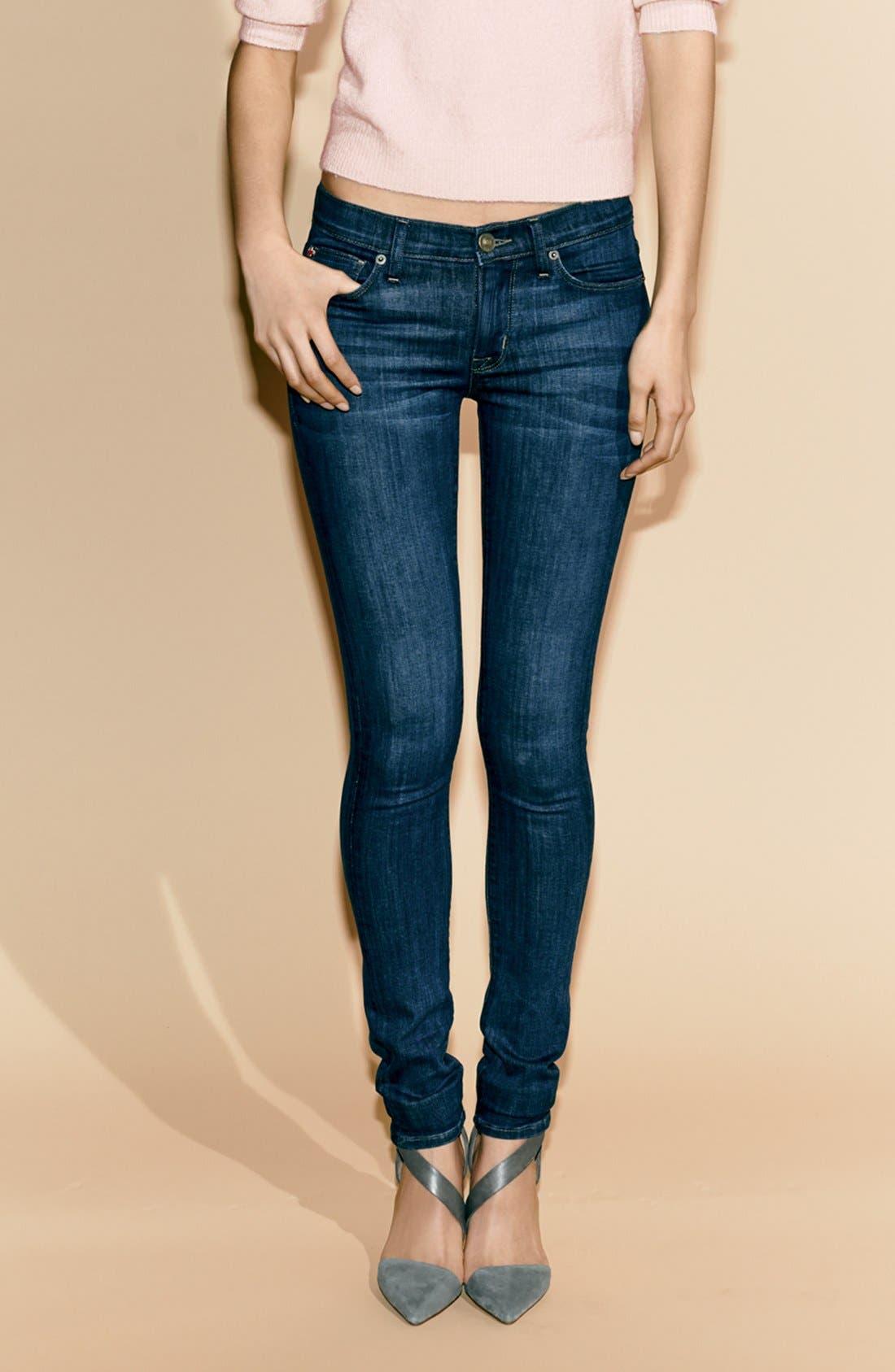 HUDSON JEANS, 'Collette' Skinny Jeans, Alternate thumbnail 7, color, 400