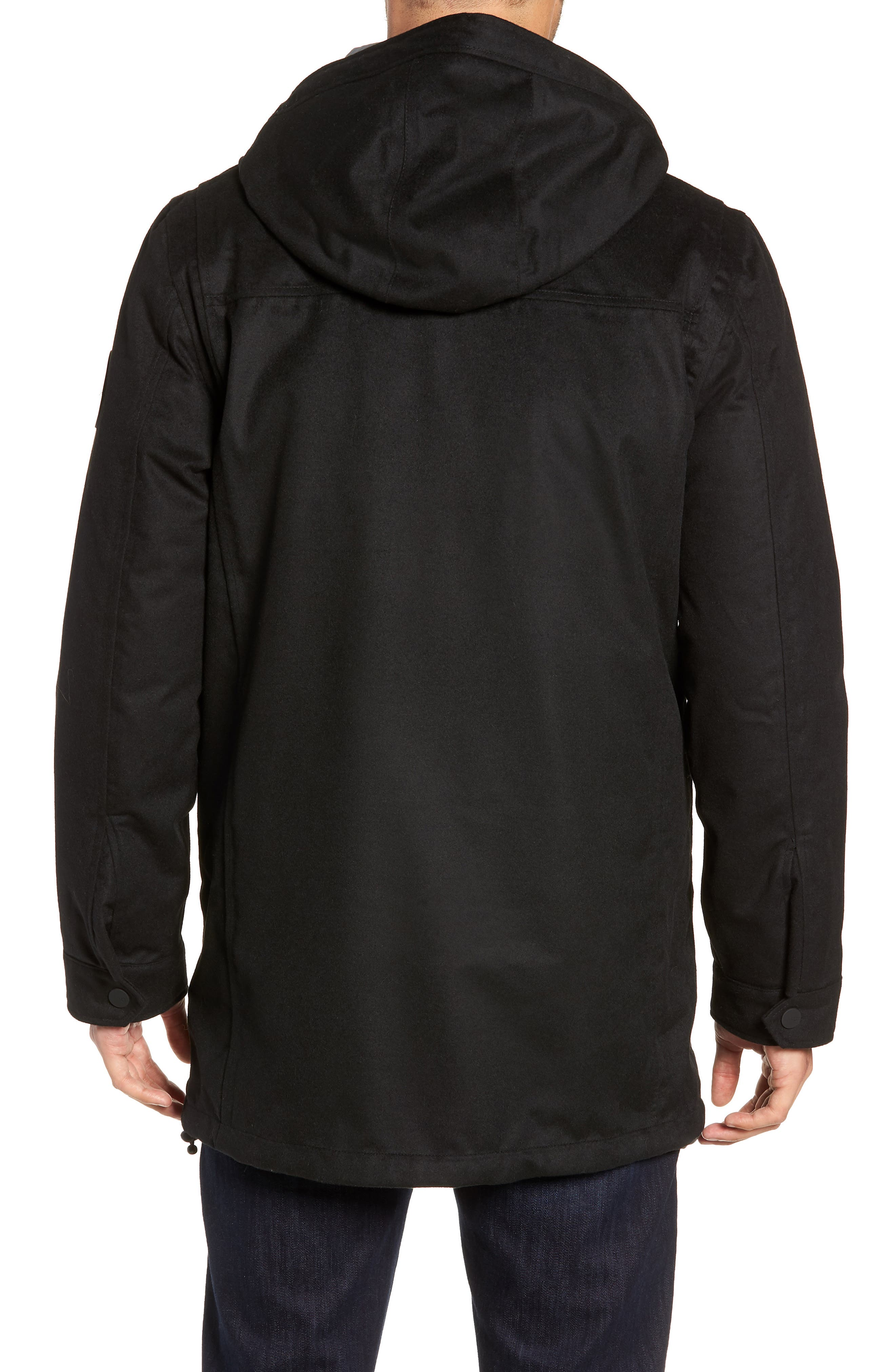 UGG<SUP>®</SUP>, Copeland 3-in-1 Parka, Alternate thumbnail 3, color, BLACK