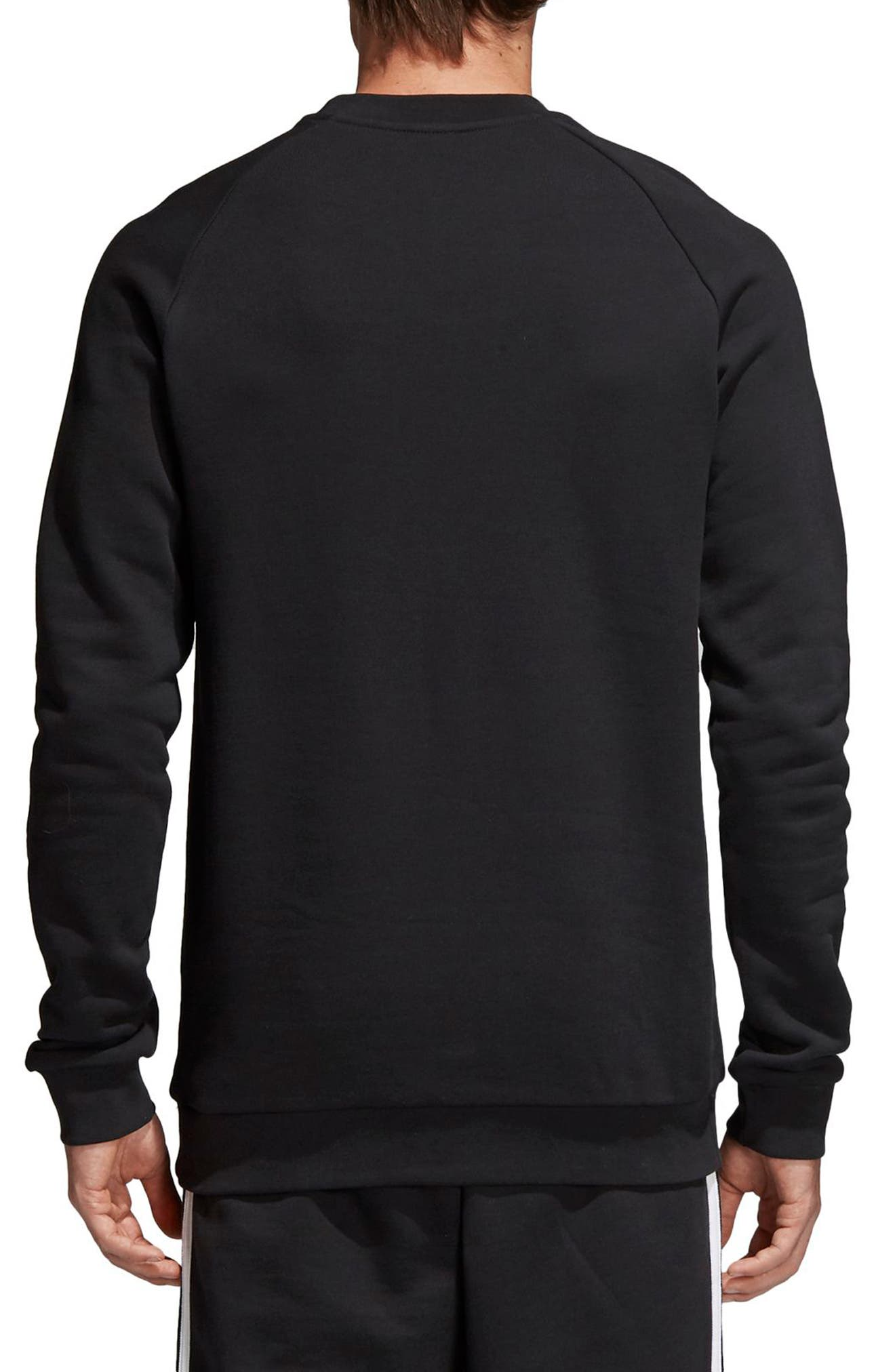 ADIDAS ORIGINALS, Trefoil Sweatshirt, Alternate thumbnail 2, color, BLACK