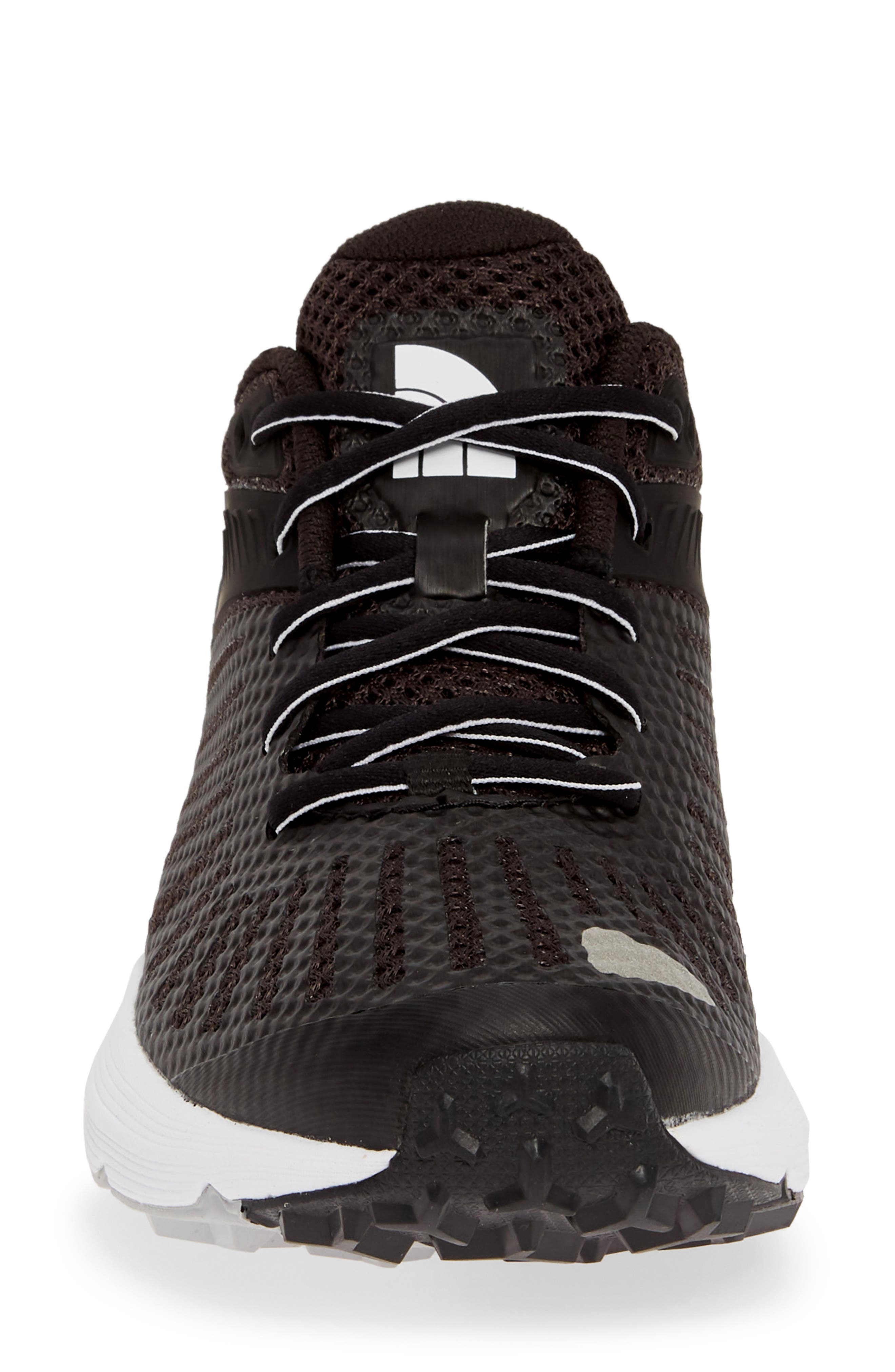 THE NORTH FACE, Ampezzo Running Shoe, Alternate thumbnail 4, color, BLACK/ WHITE