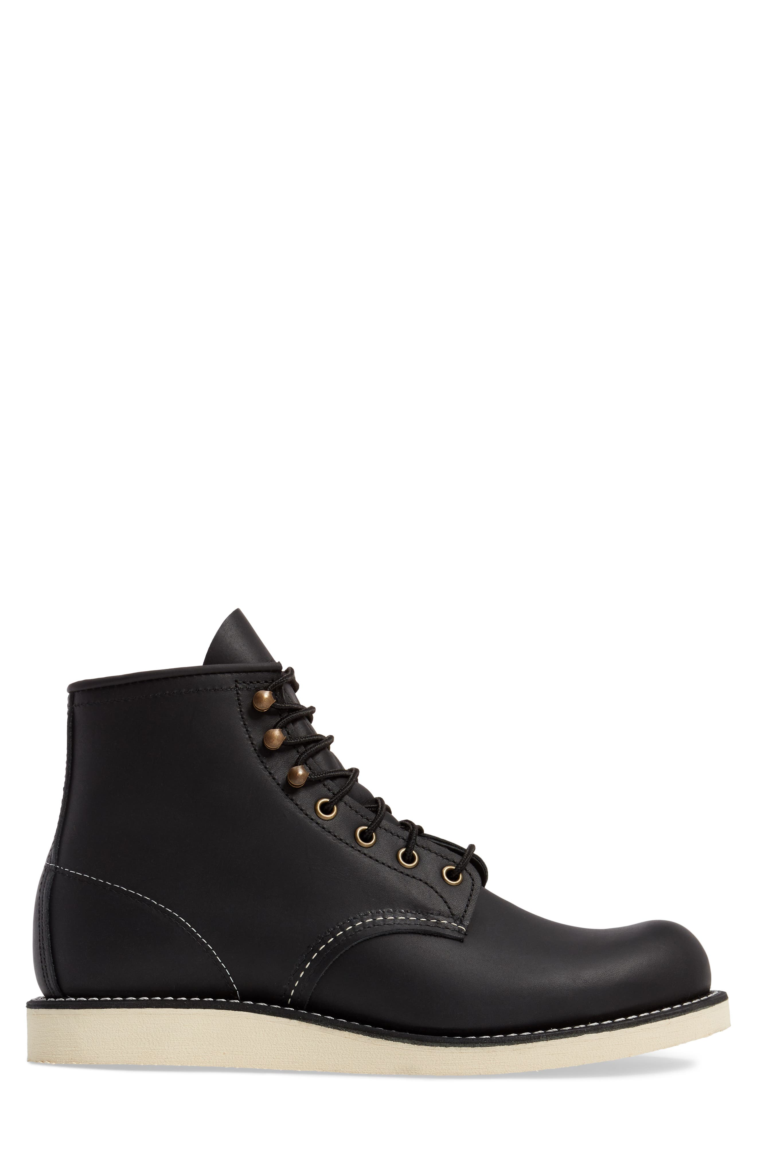 RED WING, Rover Plain Toe Boot, Alternate thumbnail 3, color, BLACK HARNESS LEATHER