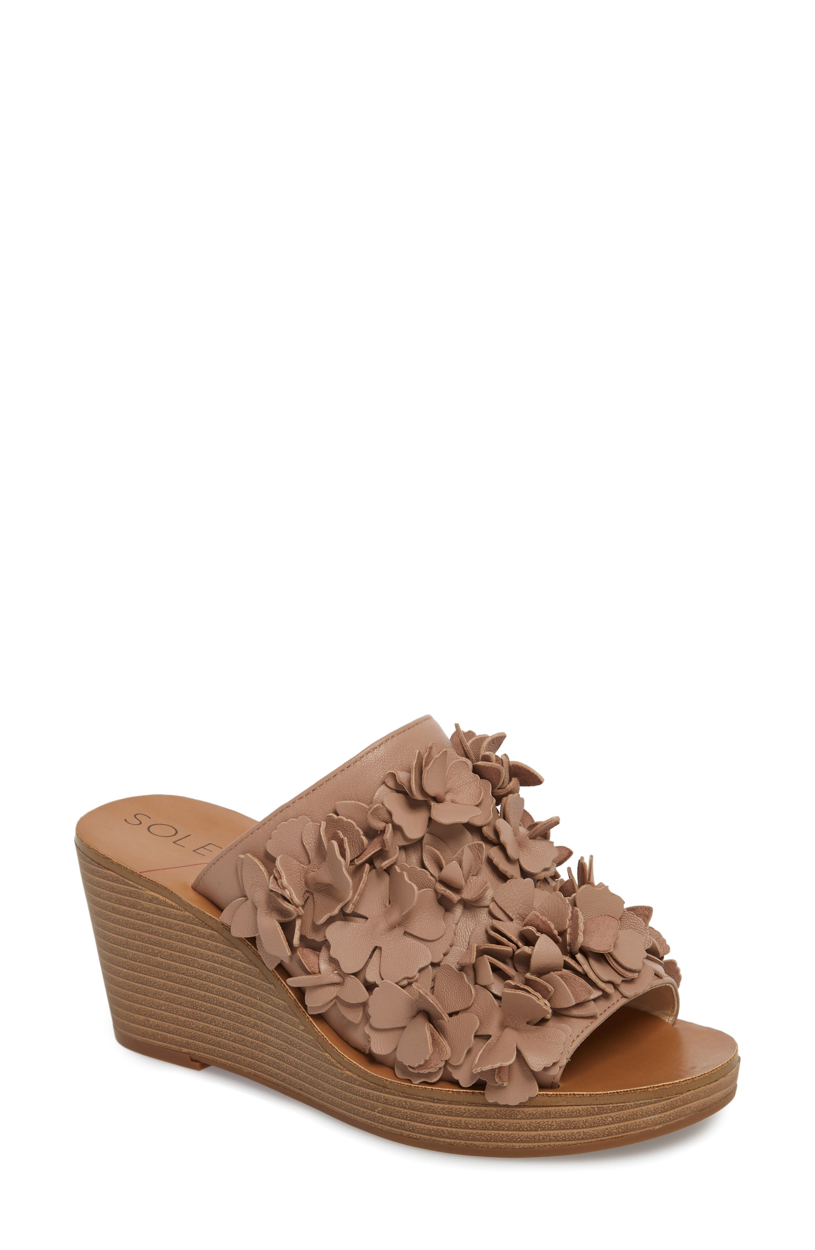 Sole Society Poppie Wedge Sandal, Pink