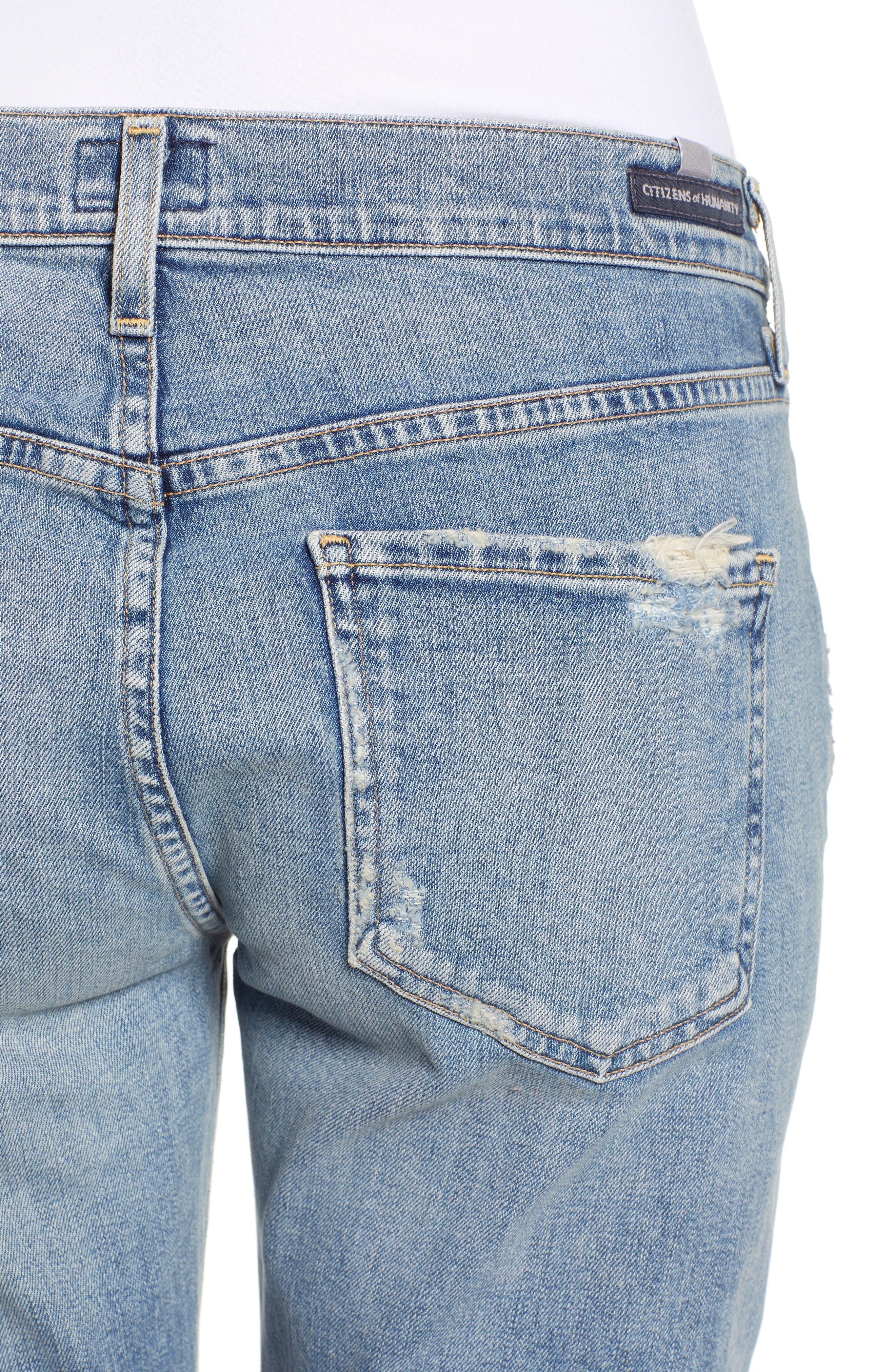 CITIZENS OF HUMANITY, Emerson Crop Slim Fit Boyfriend Jeans, Alternate thumbnail 5, color, MARINA