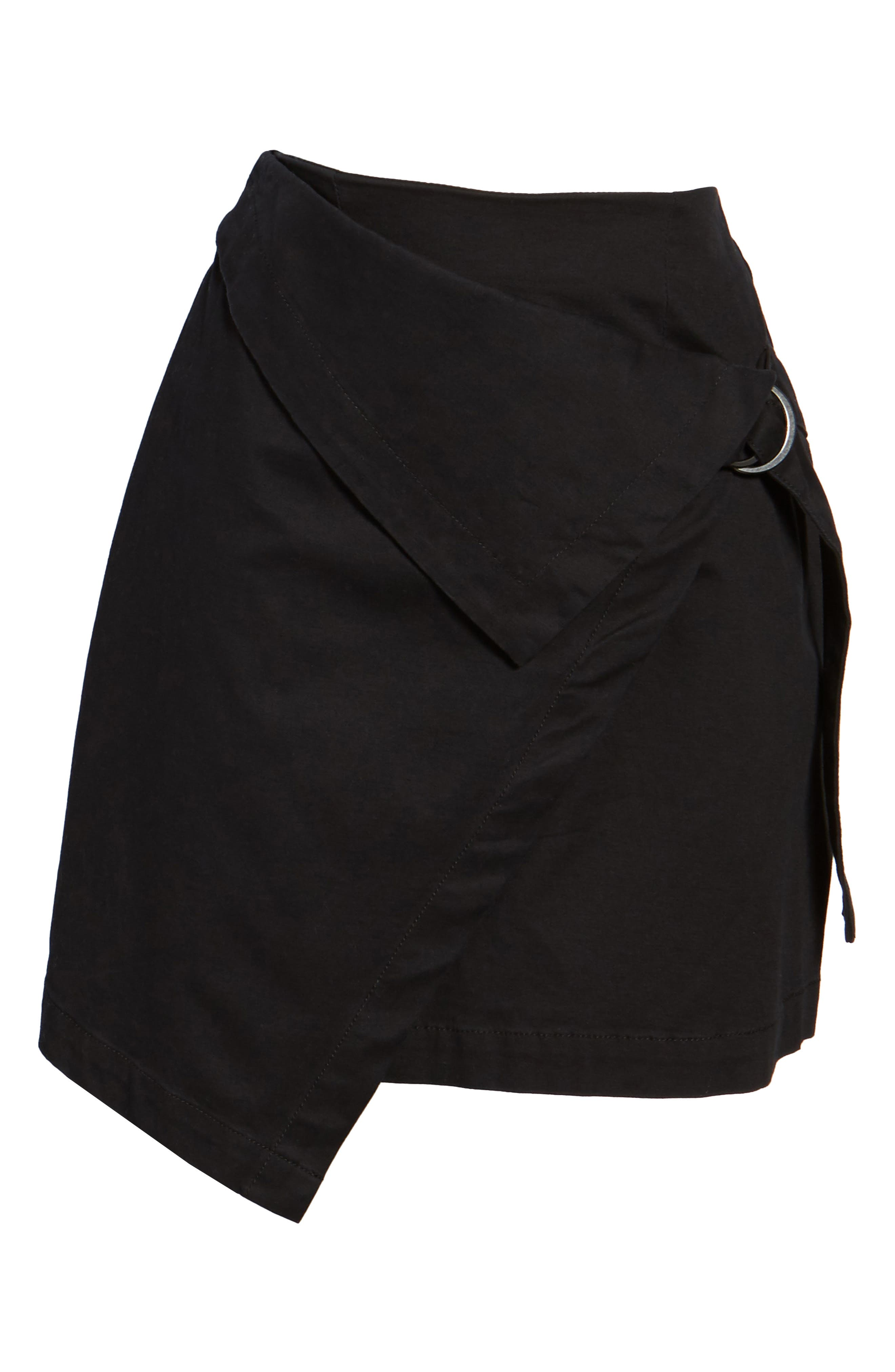 THE FIFTH LABEL, City Sounds Wrap Skirt, Alternate thumbnail 6, color, 001