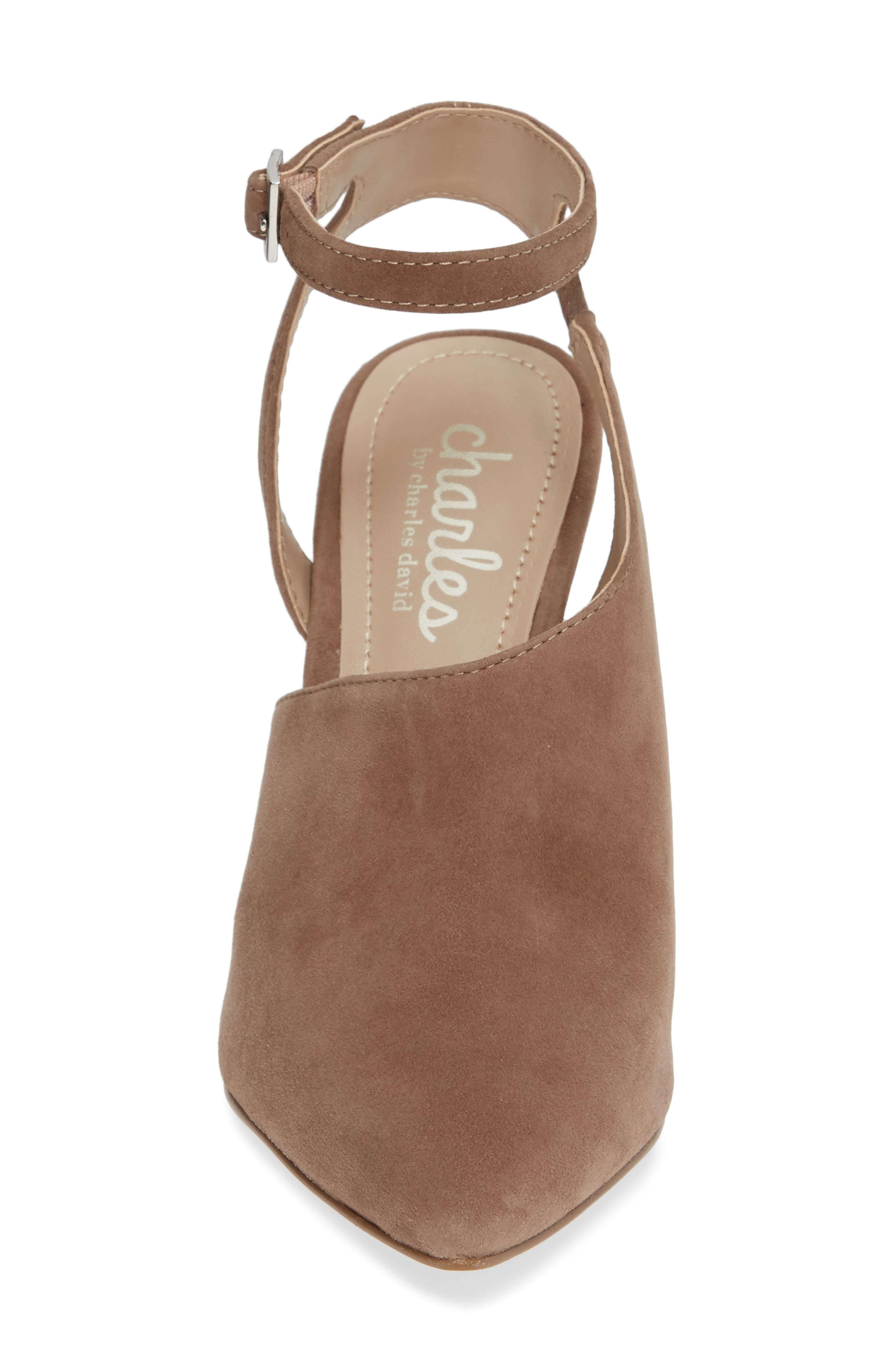 CHARLES BY CHARLES DAVID, Mieko Pump, Alternate thumbnail 4, color, TAUPE SUEDE