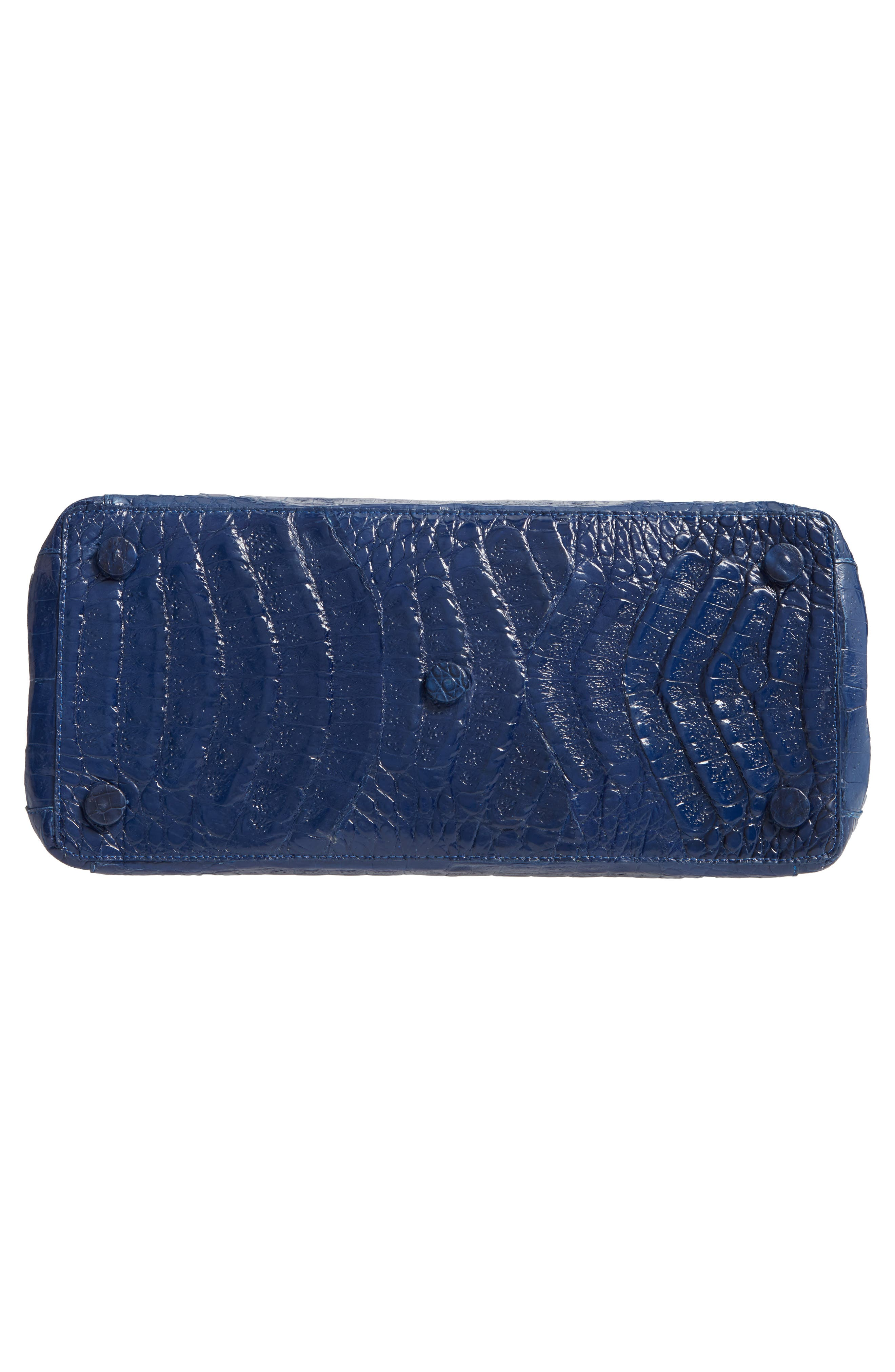 NANCY GONZALEZ, Medium Double Zip Genuine Crocodile Tote, Alternate thumbnail 6, color, BLUE DEGRADE