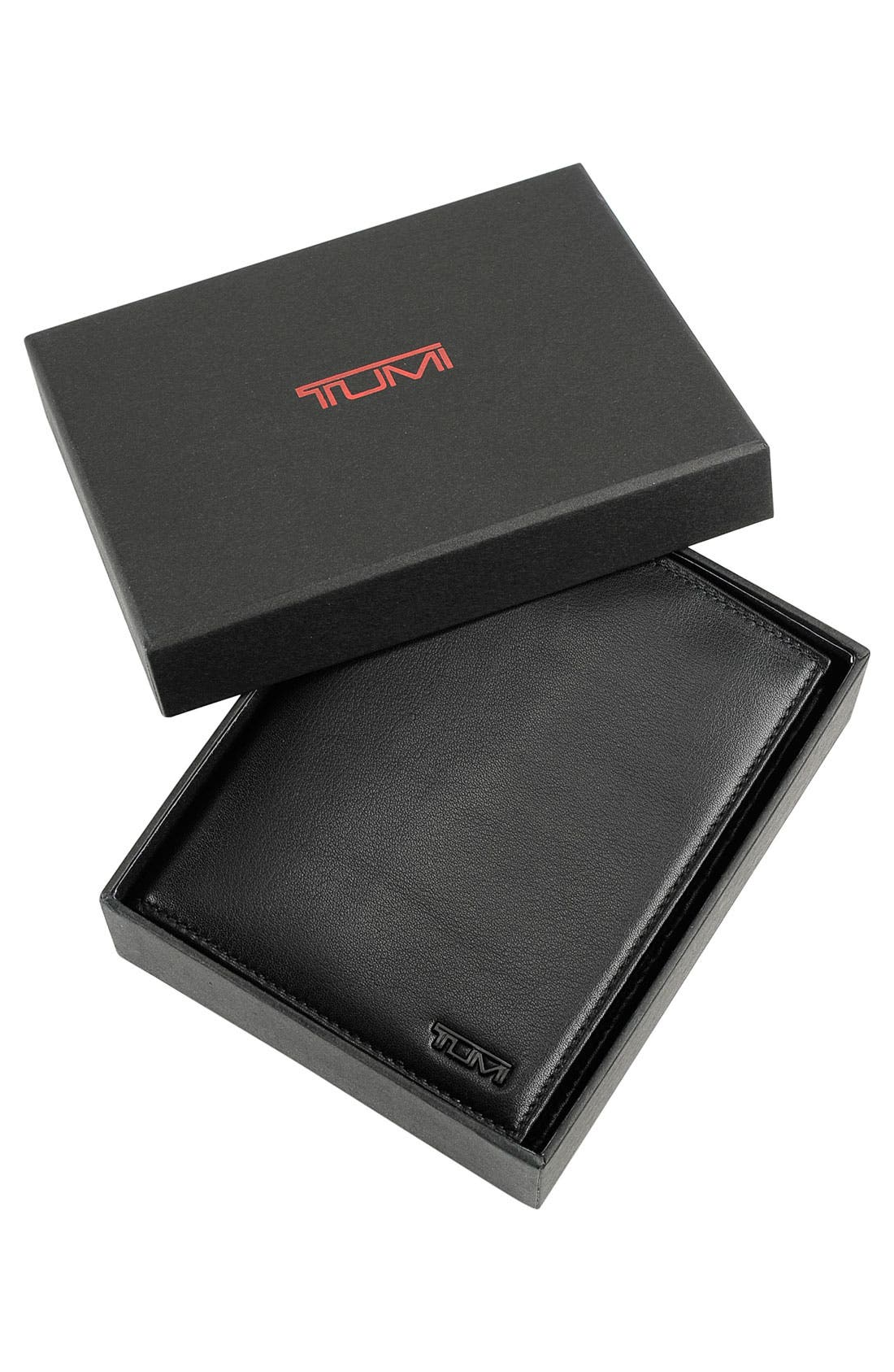 TUMI, Delta Passport Case, Alternate thumbnail 6, color, BLACK