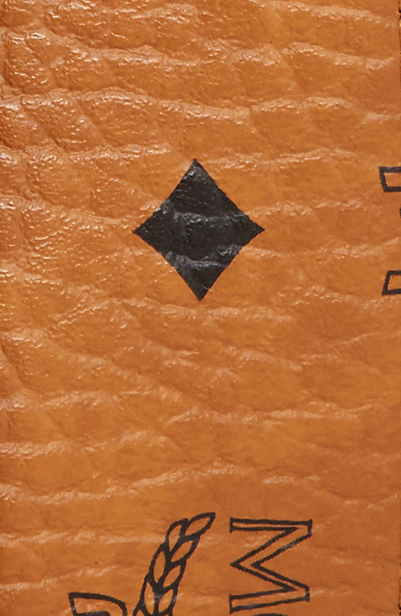 MCM, Reversible Signature Leather Belt, Alternate thumbnail 3, color, COGNAC