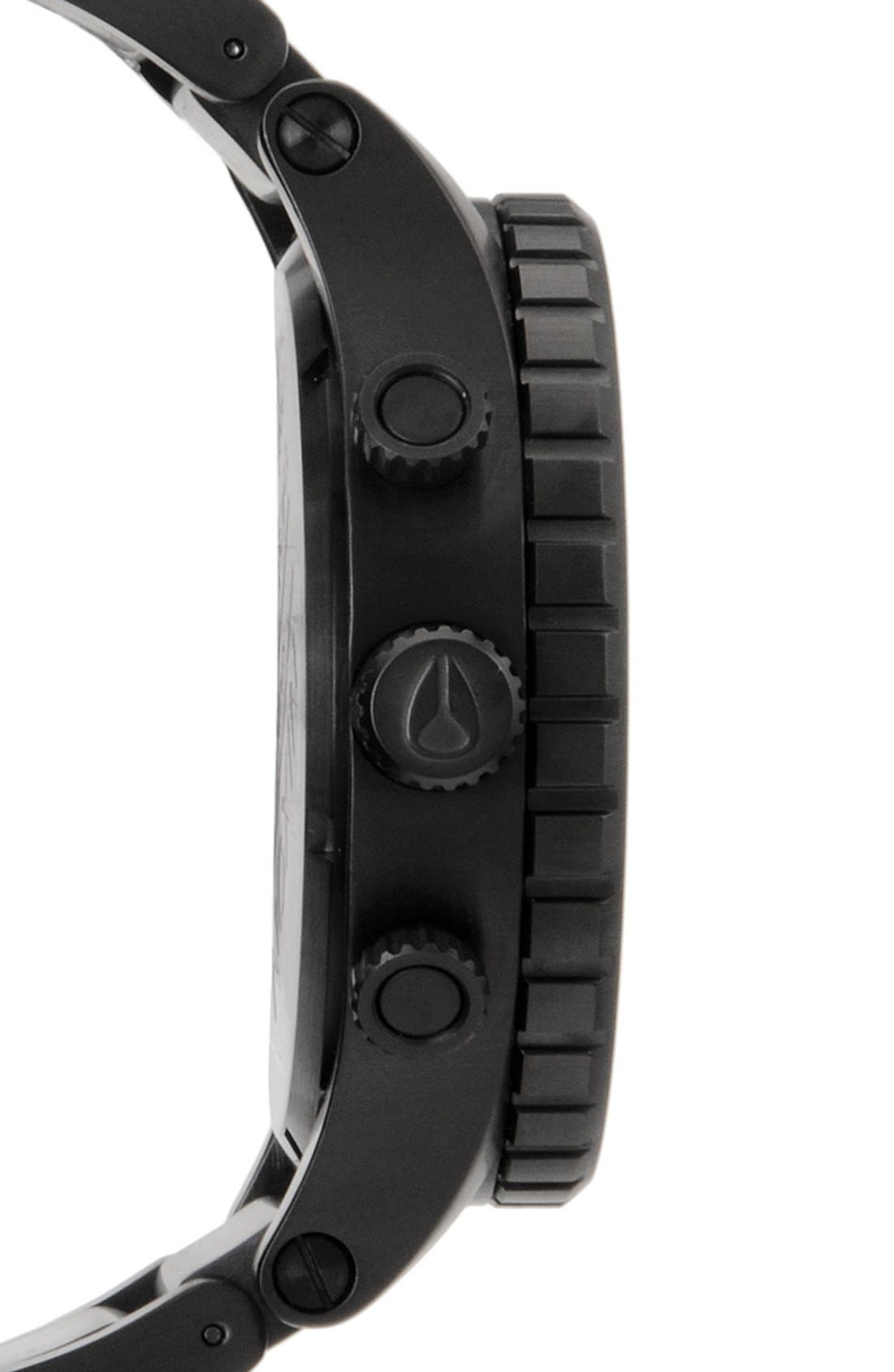 NIXON, 'The 51-30 Chrono' Watch, 51mm, Alternate thumbnail 6, color, MATTE BLACK/ GOLD