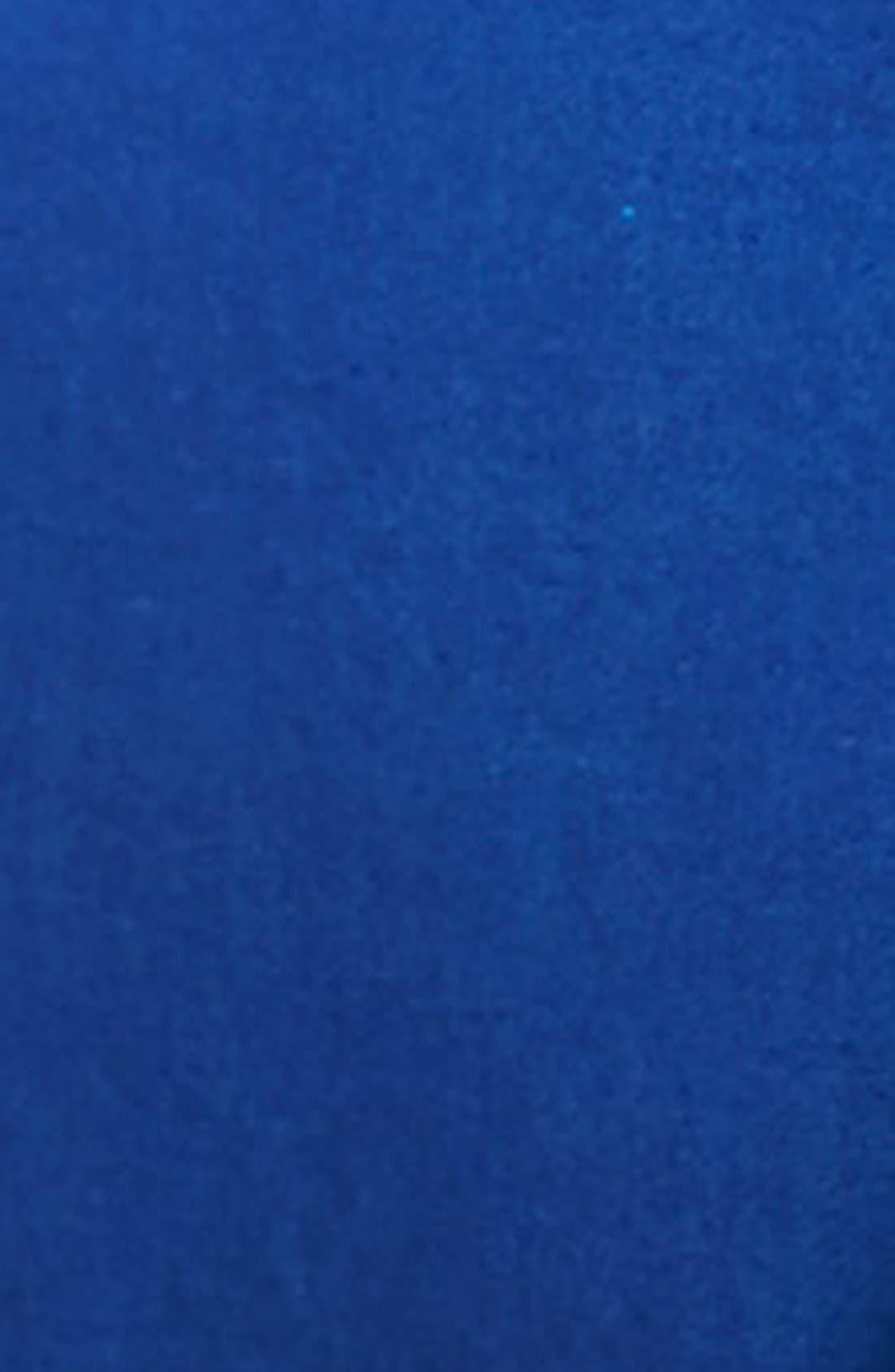 TOPMAN, Blue Skinny Fit Tuxedo Jacket, Alternate thumbnail 5, color, 400