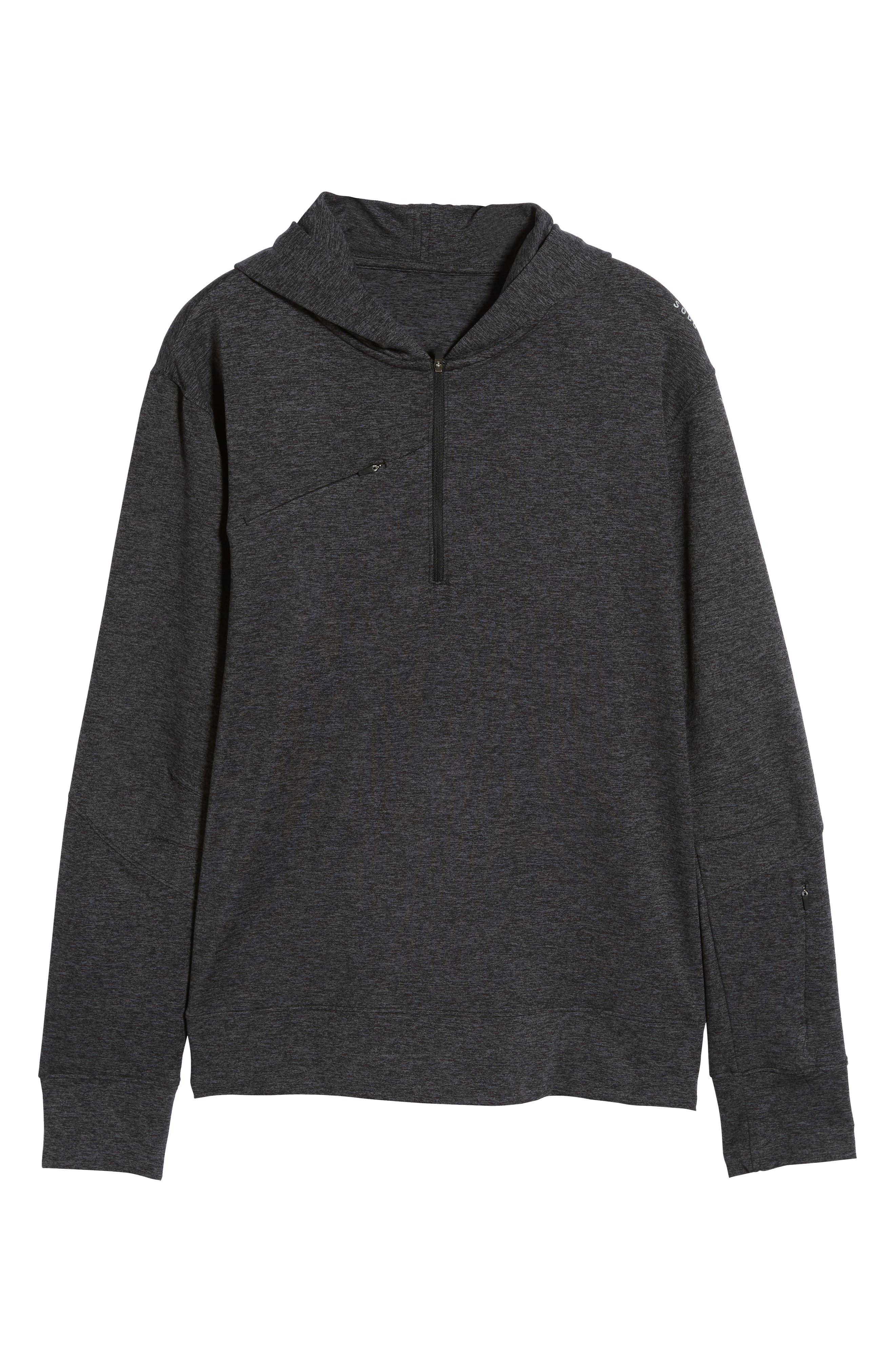 SODO, Elevate Hooded Sweatshirt, Alternate thumbnail 6, color, HEATHER CHARCOAL BLACK/ BLACK