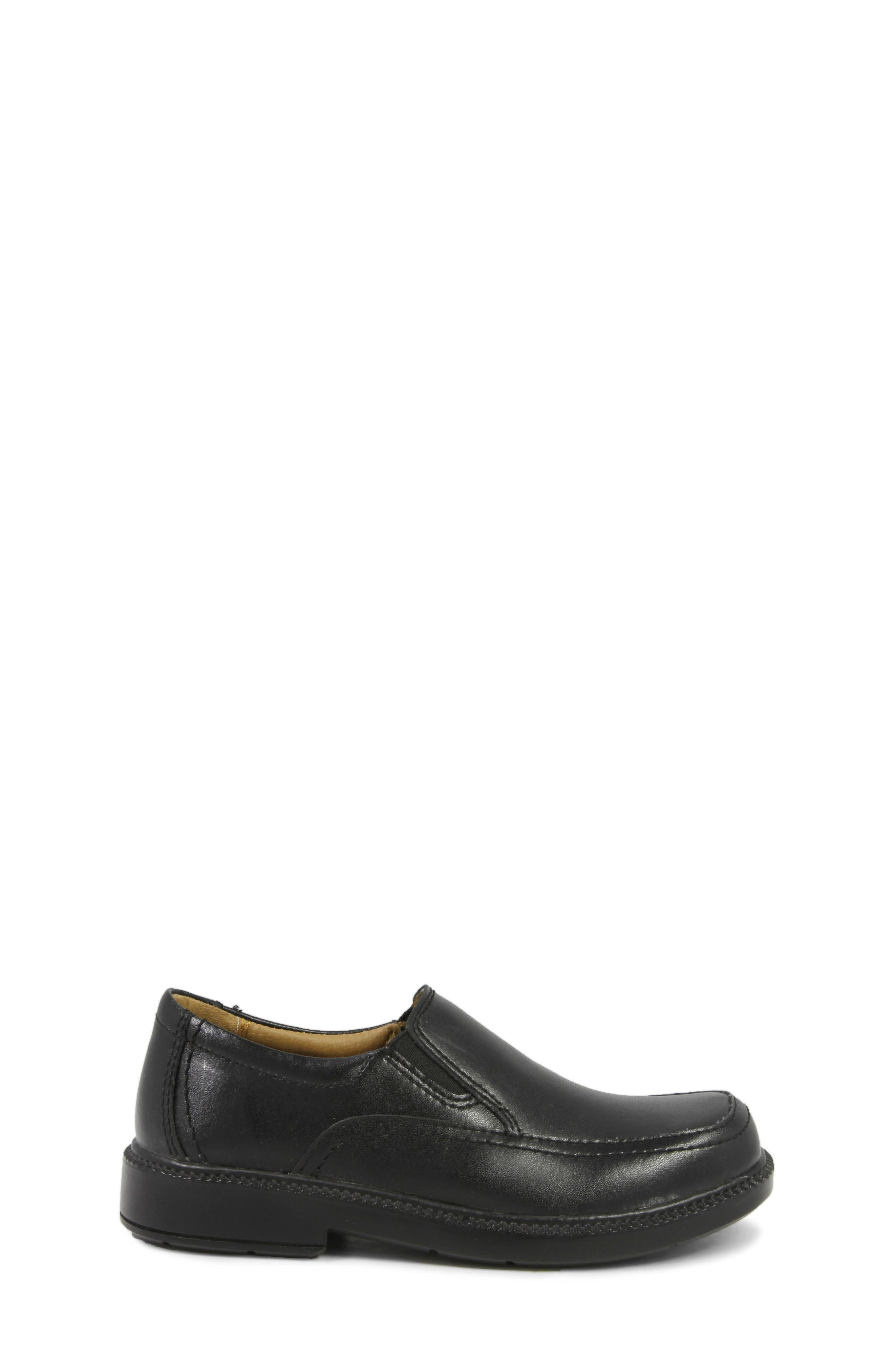 FLORSHEIM, 'Bogan' Slip-On, Alternate thumbnail 3, color, BLACK