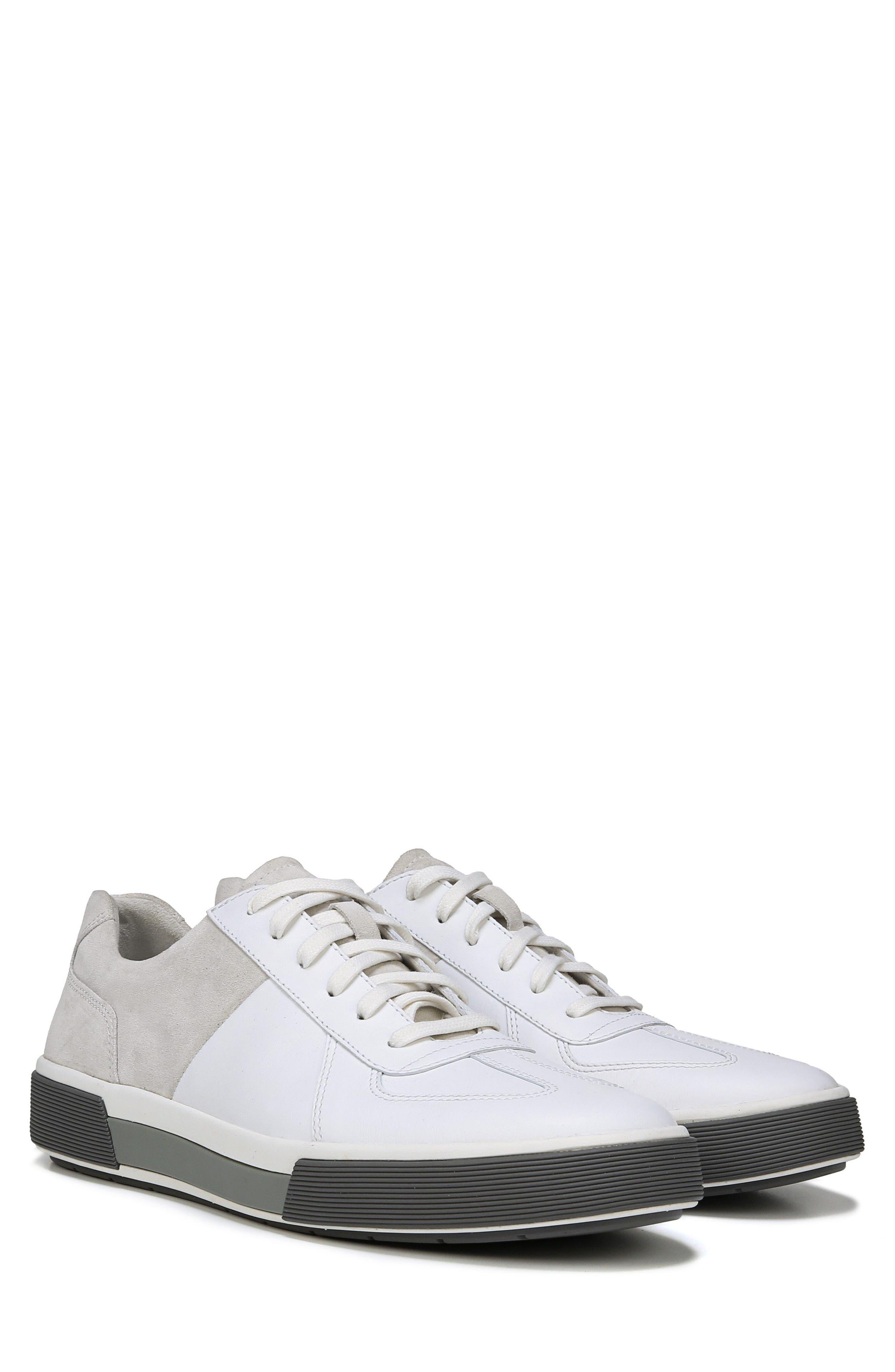 VINCE, Rogue Low Top Sneaker, Alternate thumbnail 6, color, WHITE/ HORCHATA