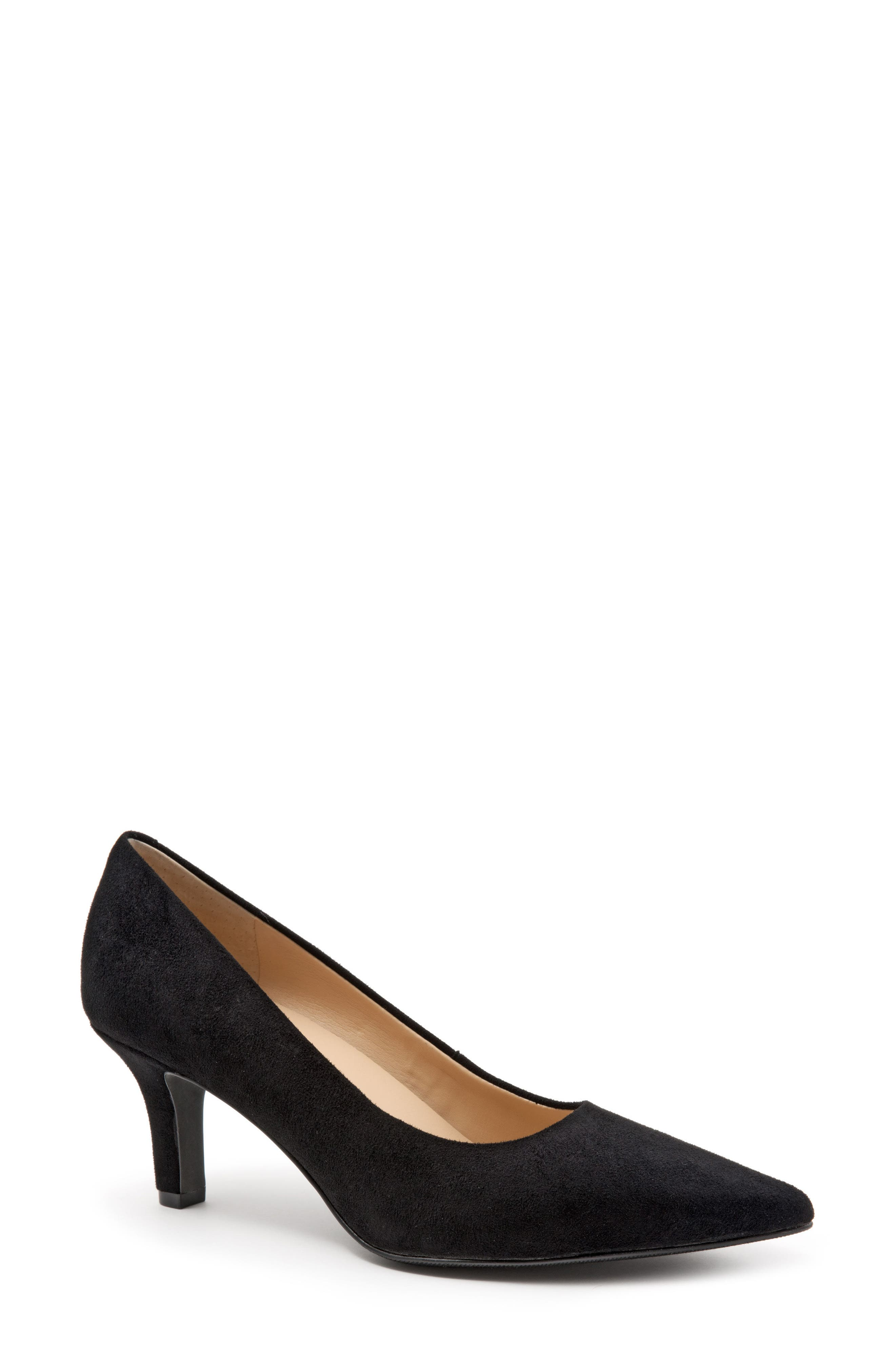TROTTERS Noelle Pointy Toe Pump, Main, color, BLACK FABRIC
