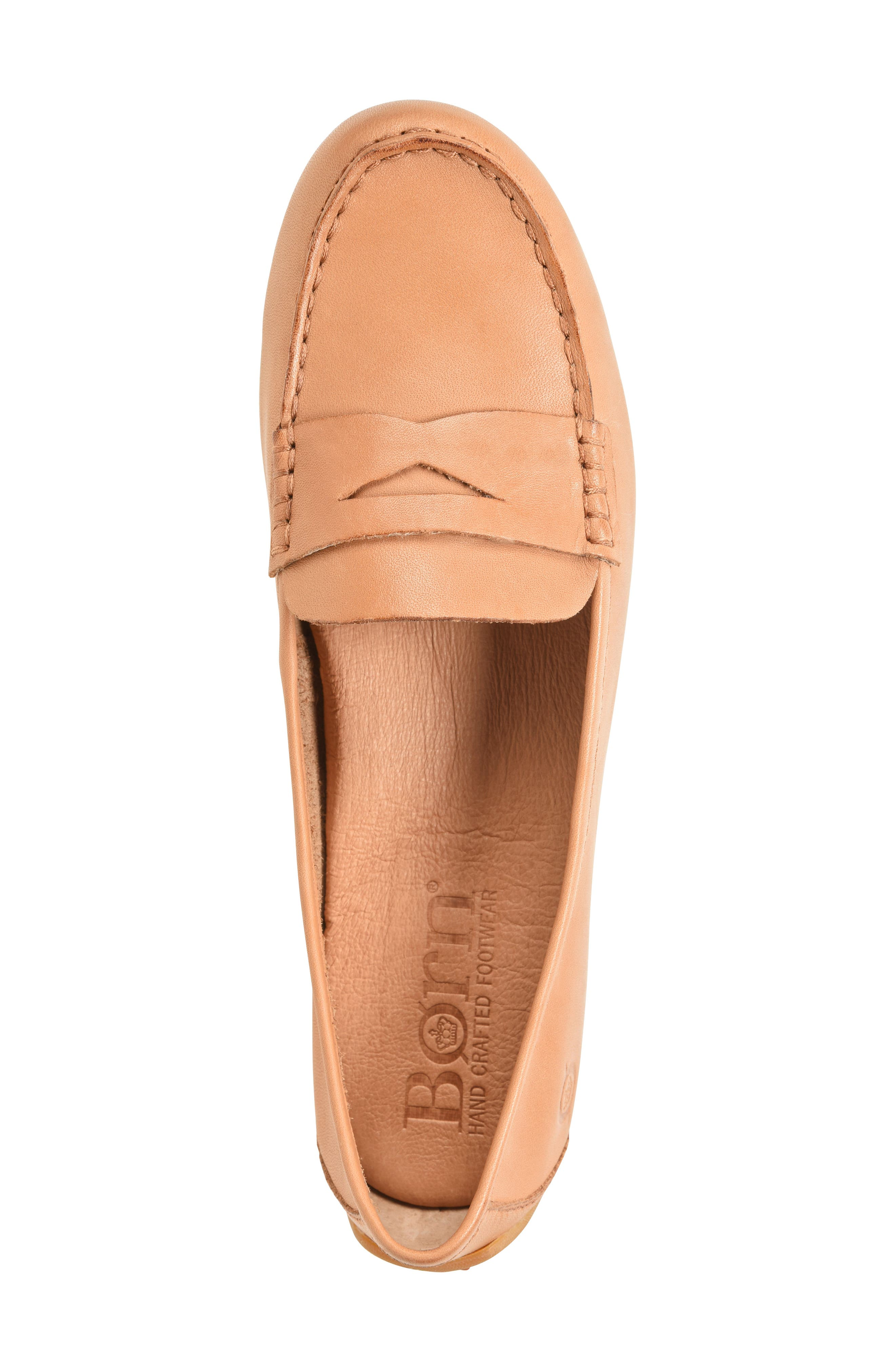 BØRN, Malena Driving Loafer, Alternate thumbnail 5, color, TAN BROWN LEATHER