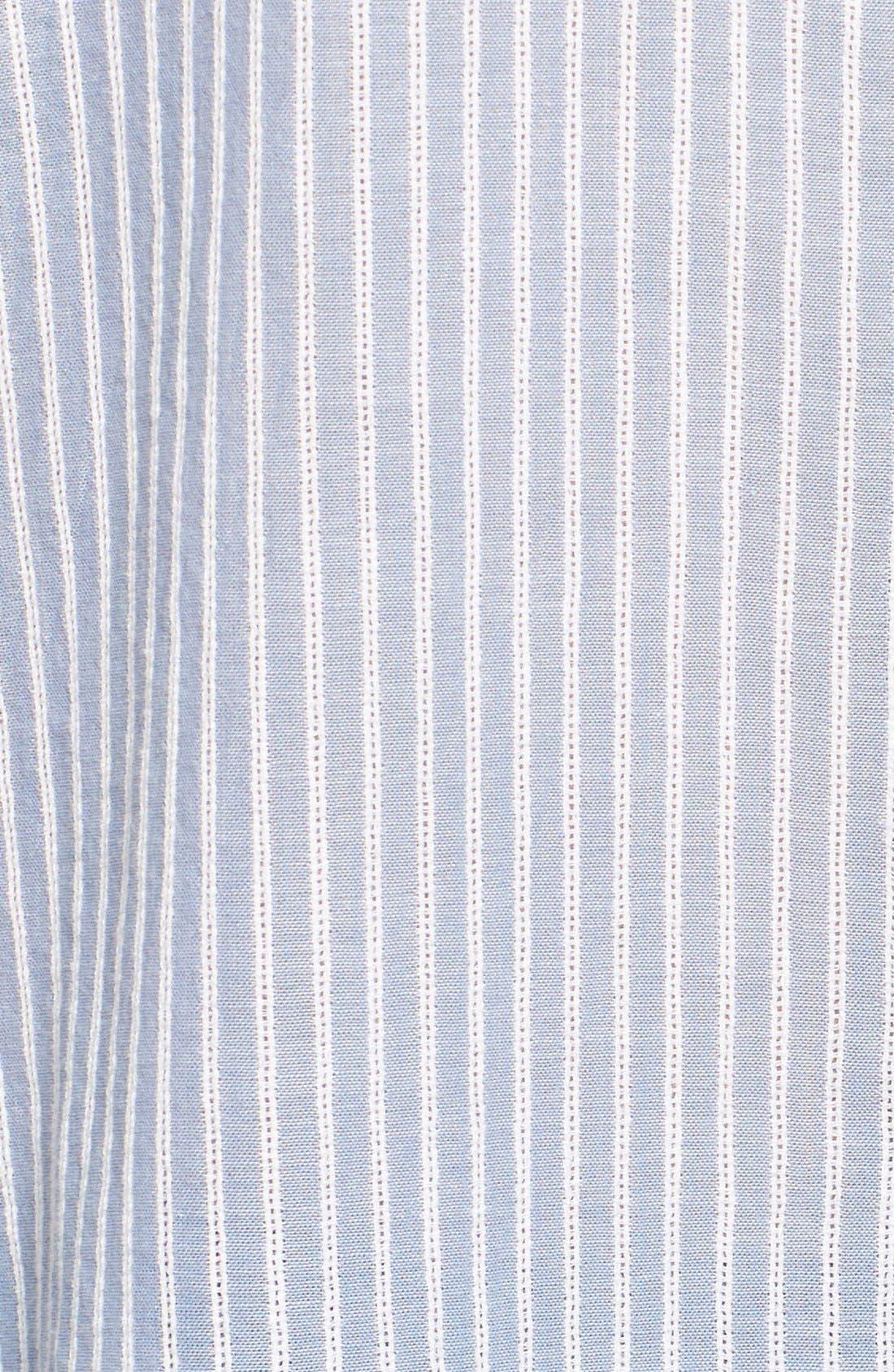 BEACHLUNCHLOUNGE, Beach Lunch Lounge Stripe Cotton Sleeveless Tunic, Alternate thumbnail 3, color, 400
