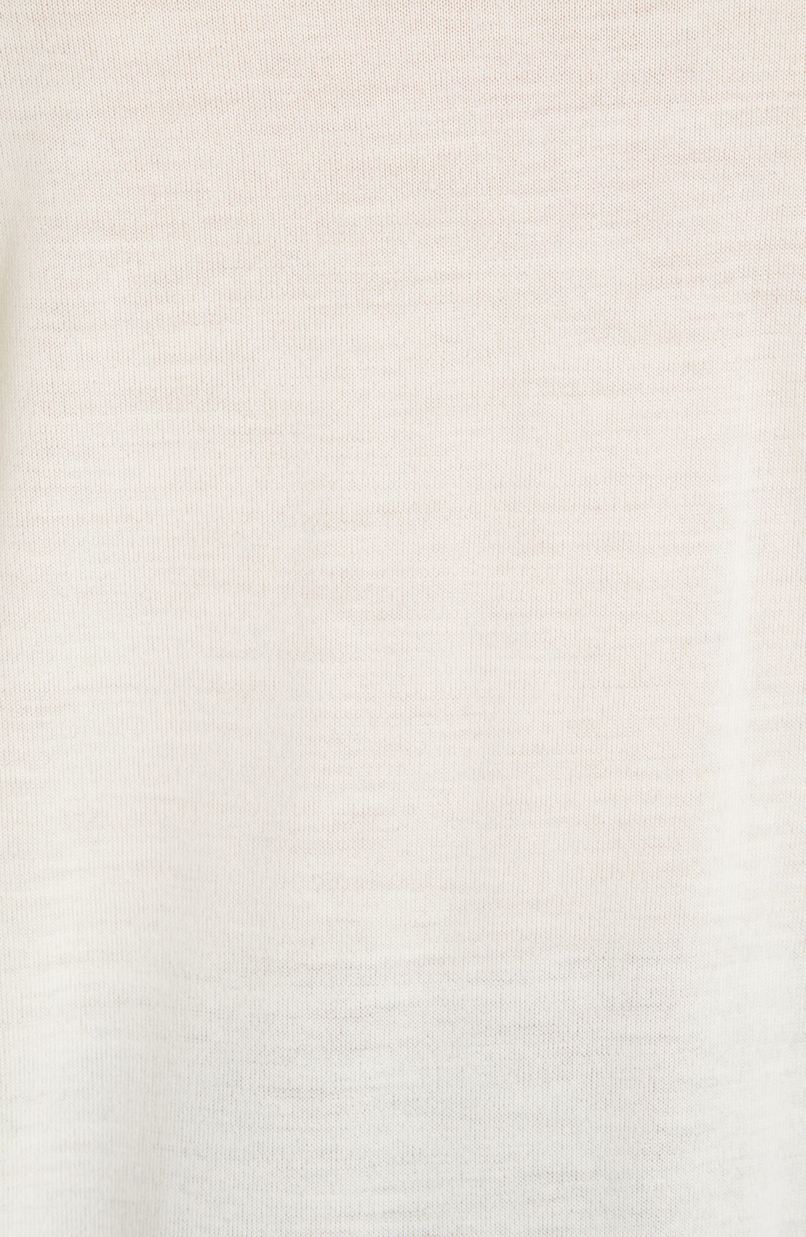 CALVIN KLEIN 205W39NYC, Contrast Stripe Wool Blend Sweater, Alternate thumbnail 6, color, WHITE BLACK TOURNESOL