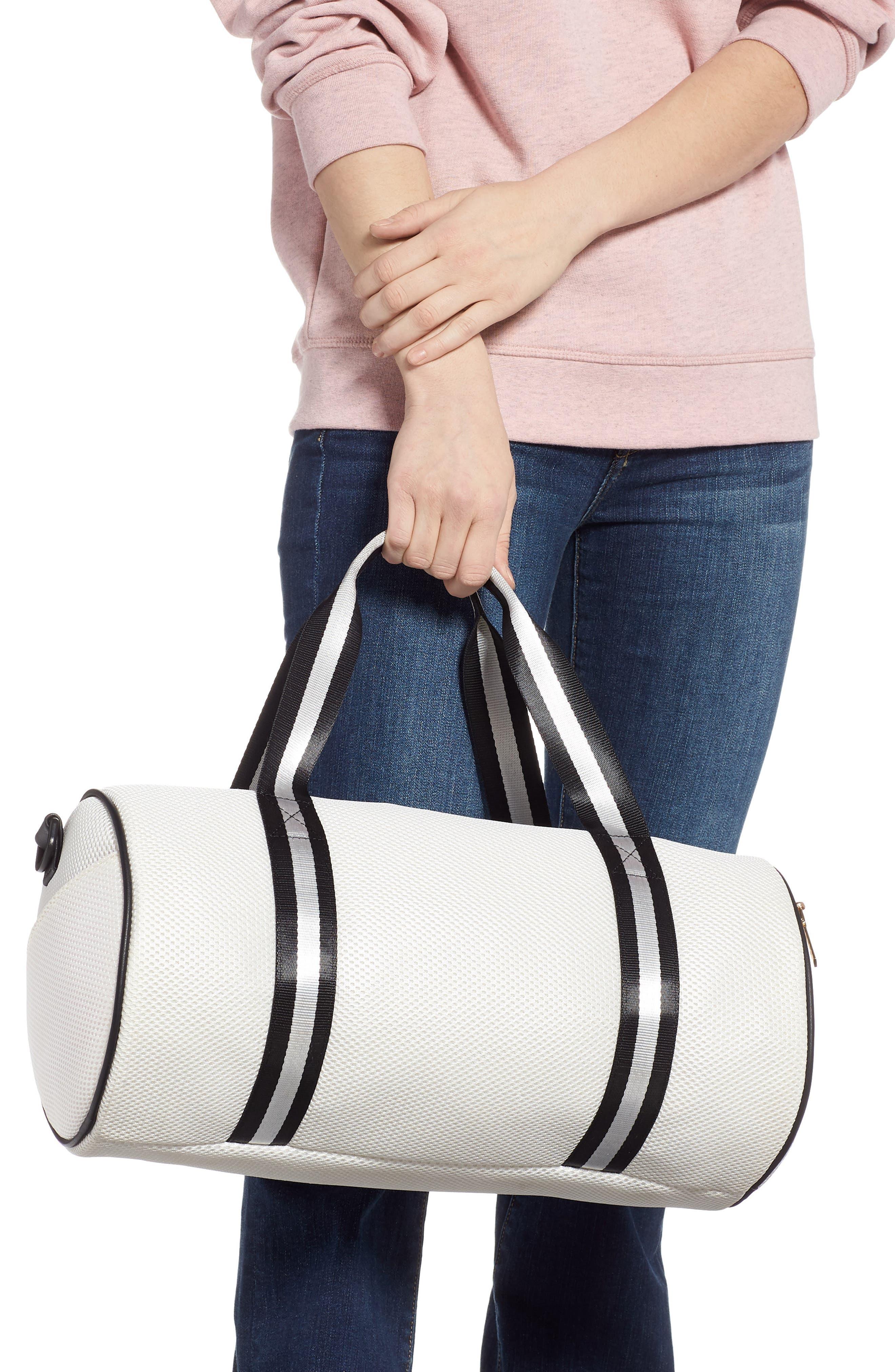 YOKI BAGS, Mesh Duffle Bag, Alternate thumbnail 2, color, WHITE MULTI