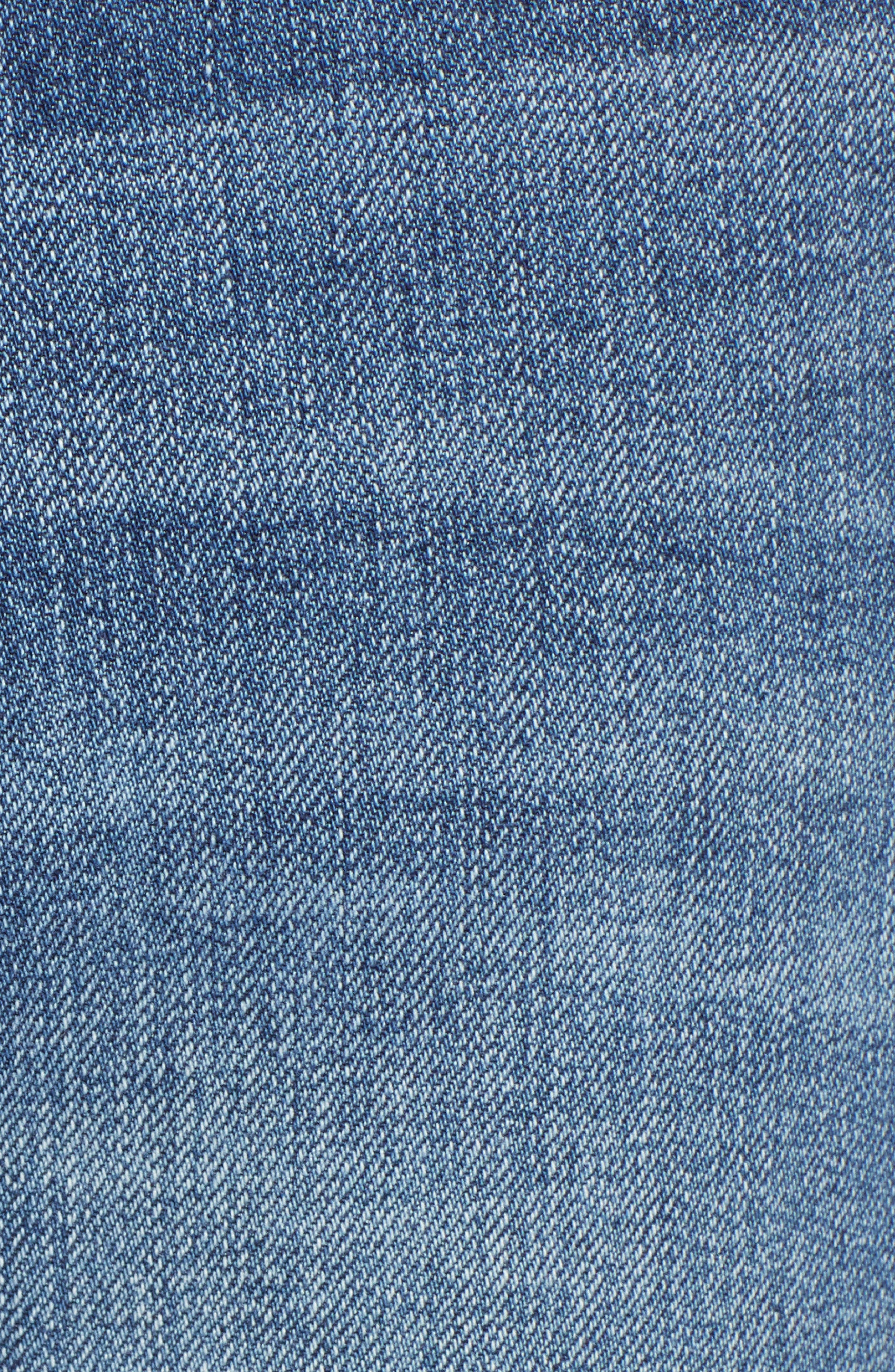 PROSPERITY DENIM, Distressed Ankle Boyfriend Jeans, Alternate thumbnail 6, color, MEDIUM WASH