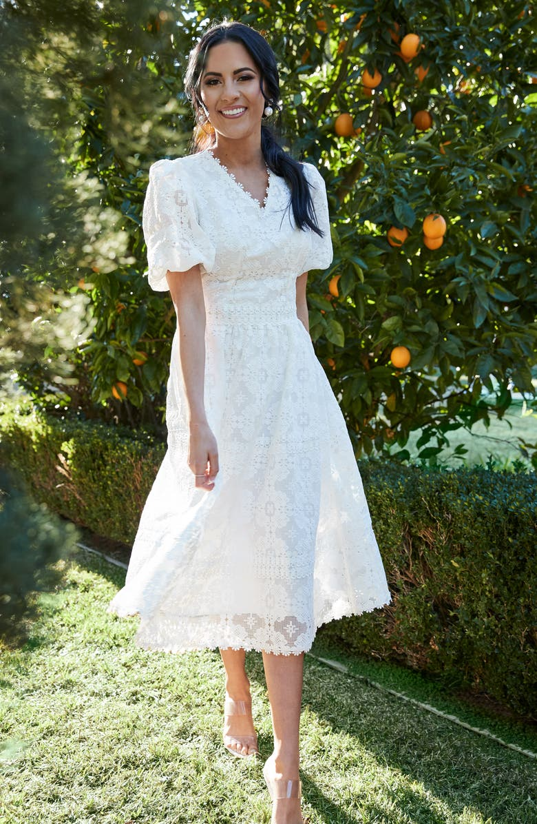 Rachel Parcell V-Neck Lace Dress (Nordstrom Exclusive) | Nordstrom