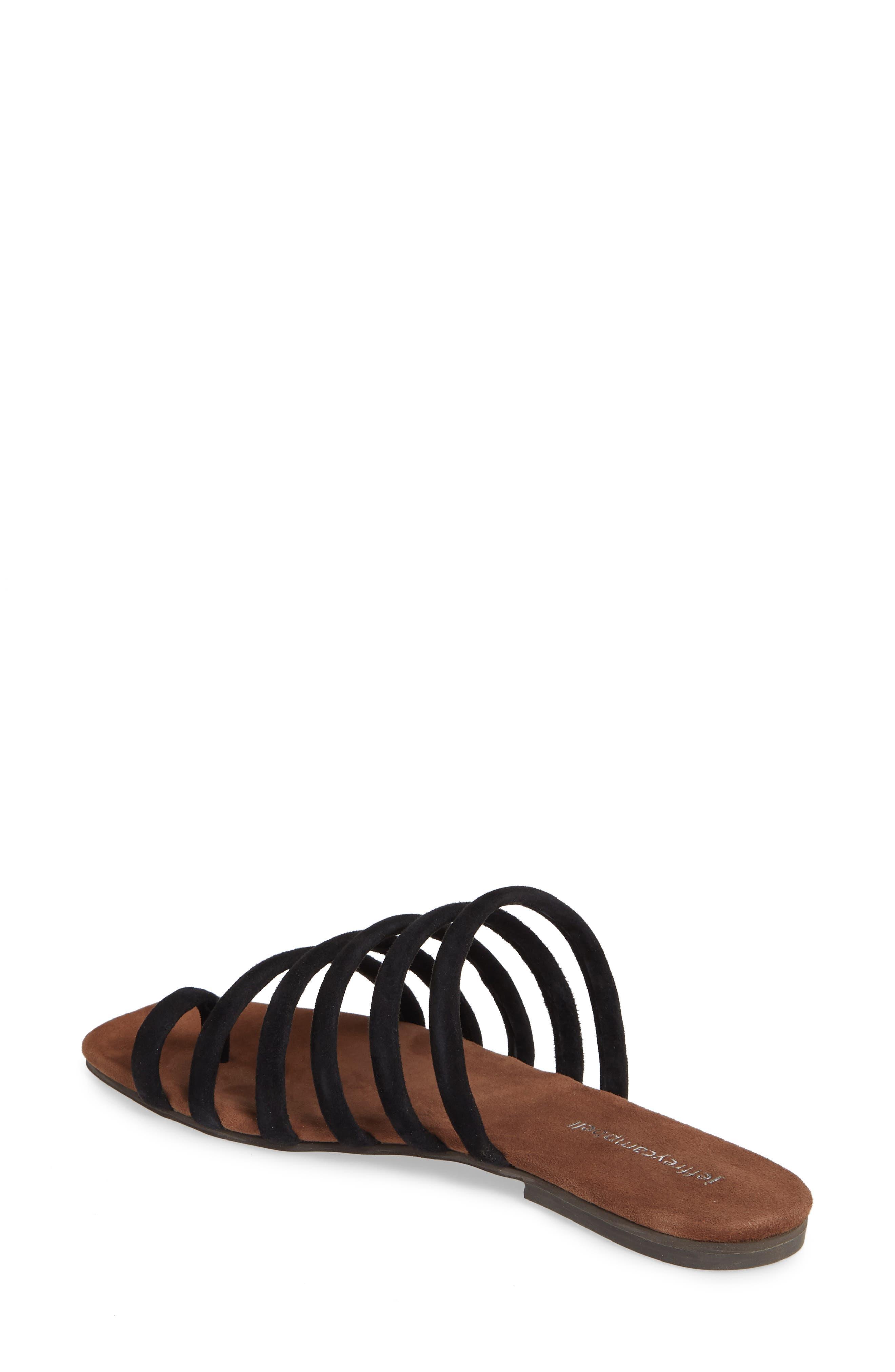JEFFREY CAMPBELL, Coniper Slide Sandal, Alternate thumbnail 2, color, BLACK SUEDE