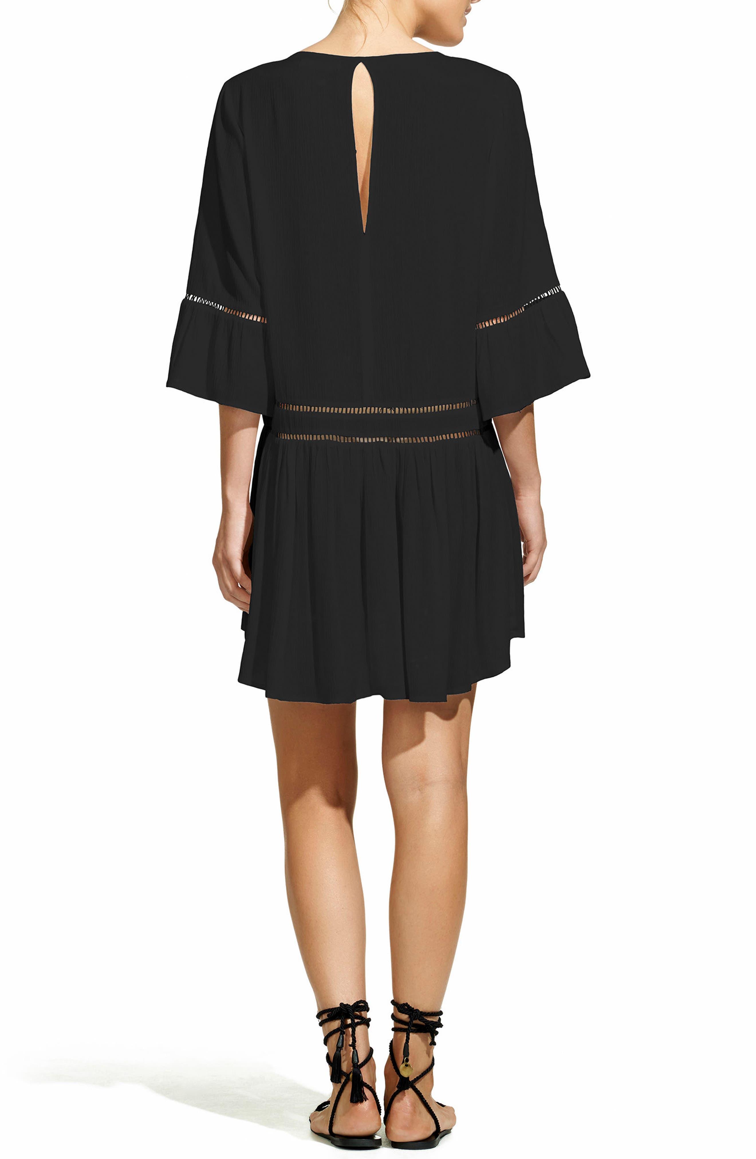 VIX SWIMWEAR, Agatha Cover-Up Dress, Alternate thumbnail 2, color, 001