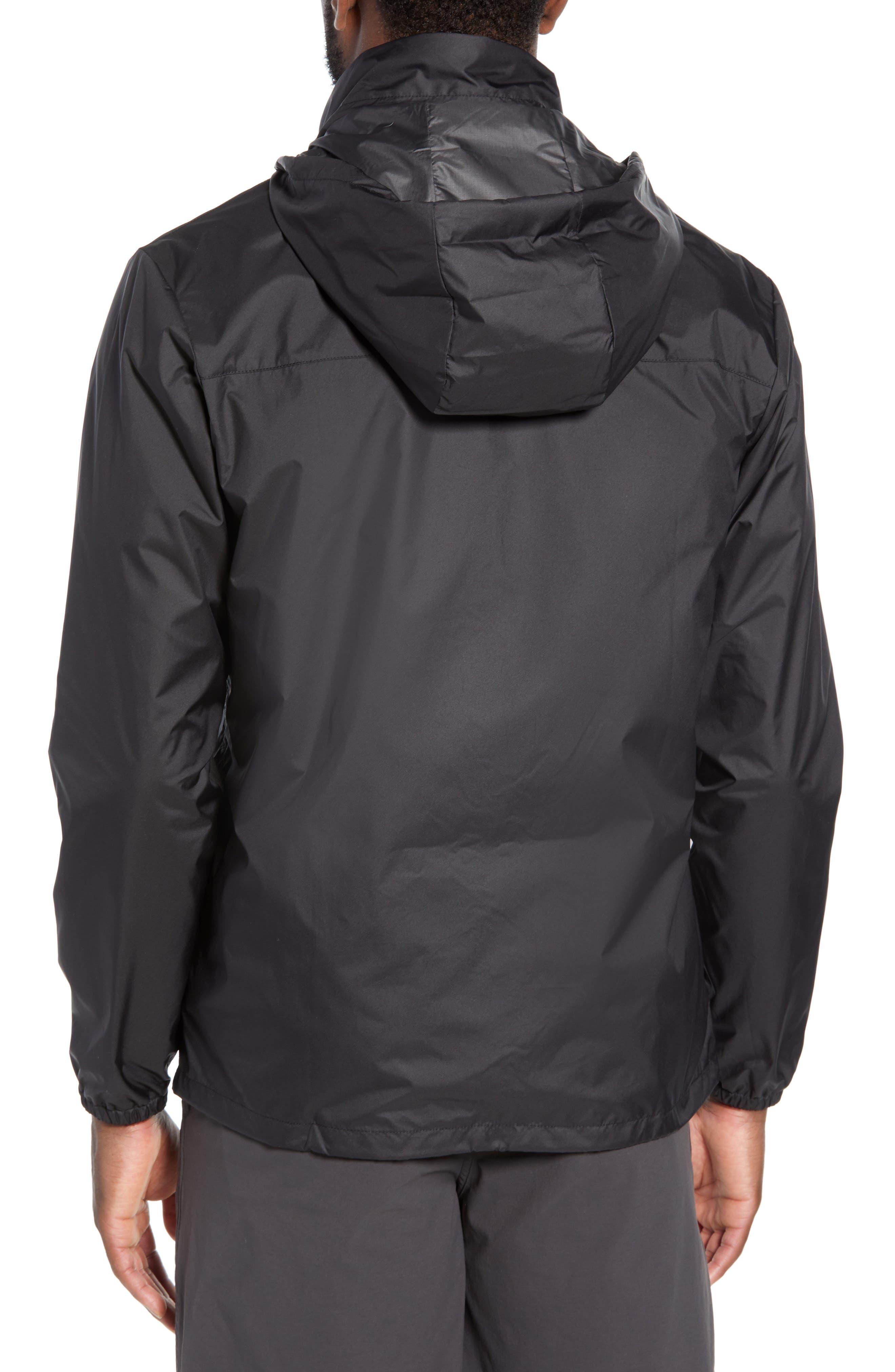 PATAGONIA, Light & Variable<sup>™</sup> Wind & Water Resistant Hooded Jacket, Alternate thumbnail 2, color, INK BLACK