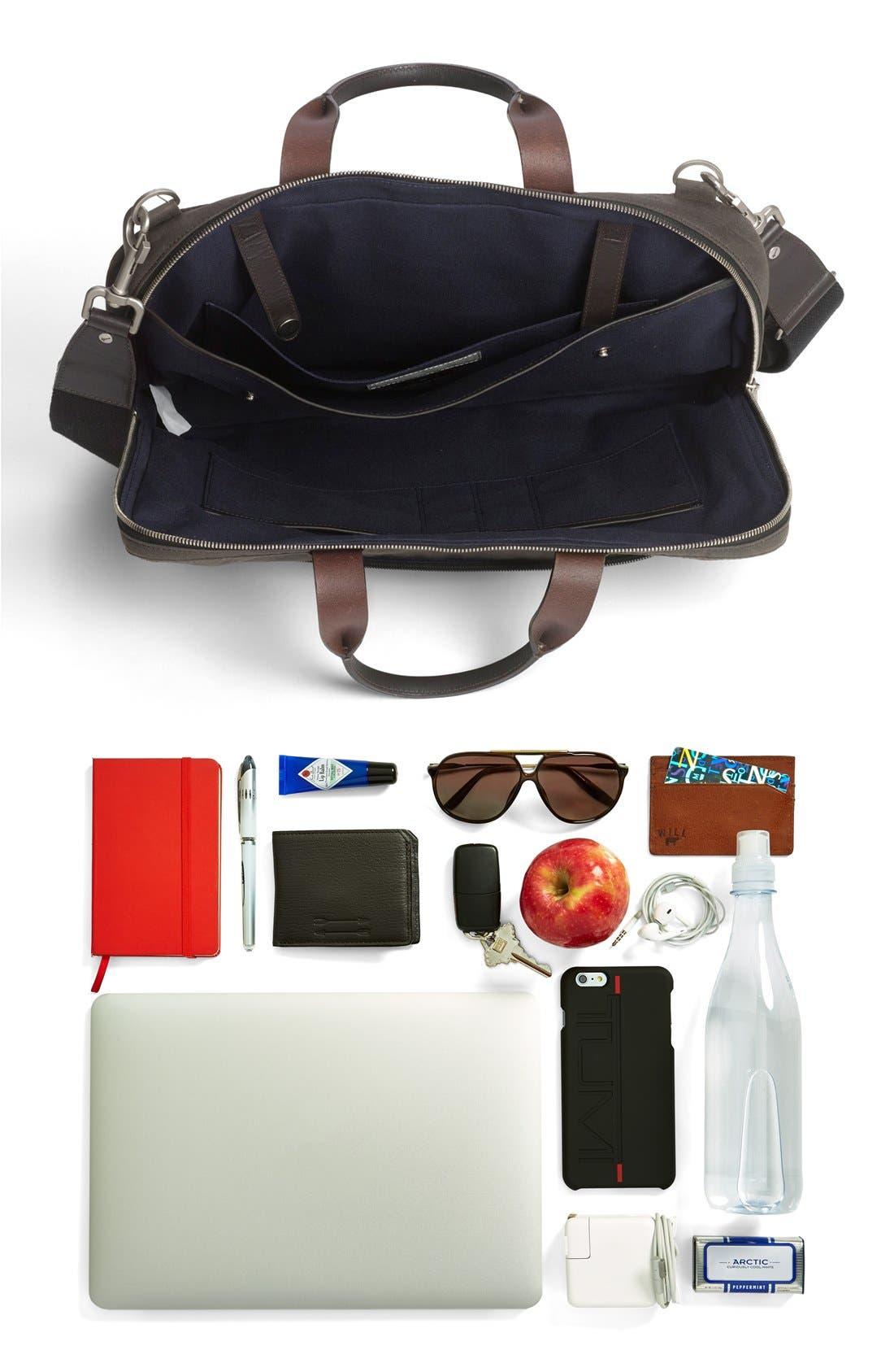 JACK SPADE, 'Waxwear' Briefcase, Alternate thumbnail 3, color, 215
