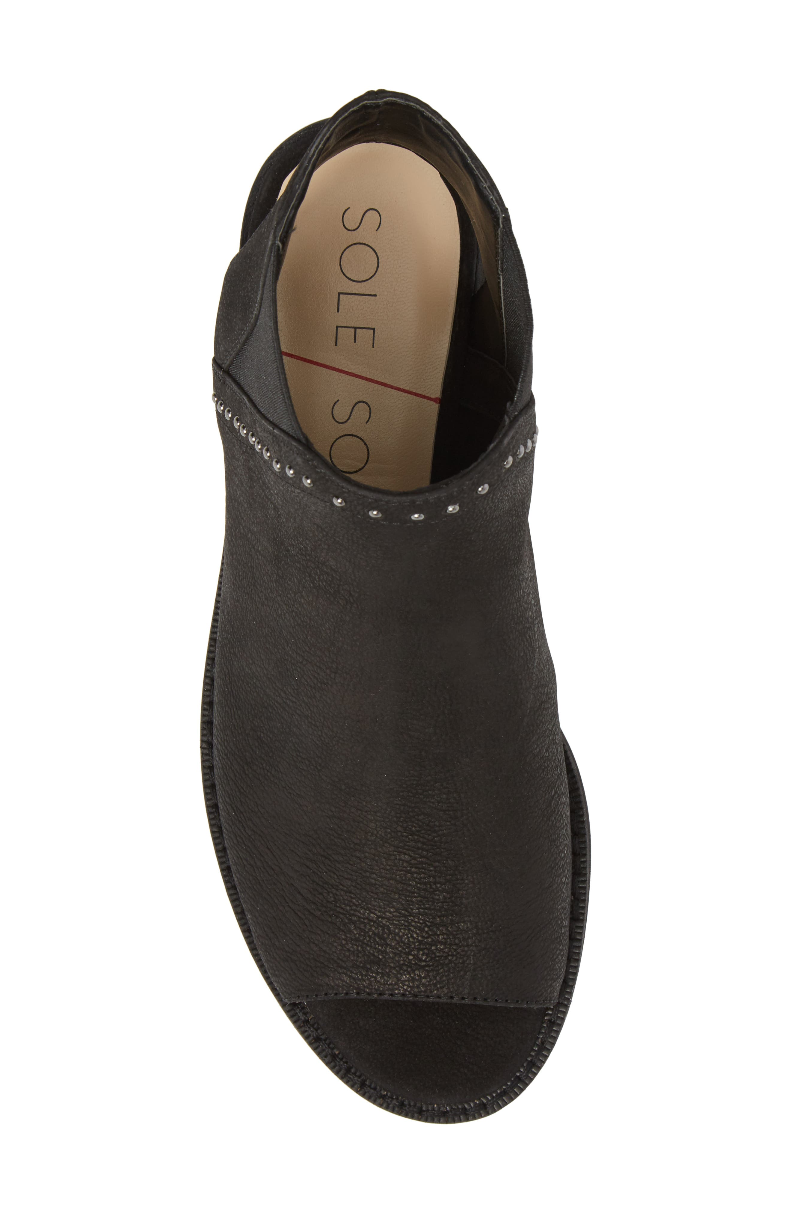 SOLE SOCIETY, Birty Bootie, Alternate thumbnail 5, color, BLACK