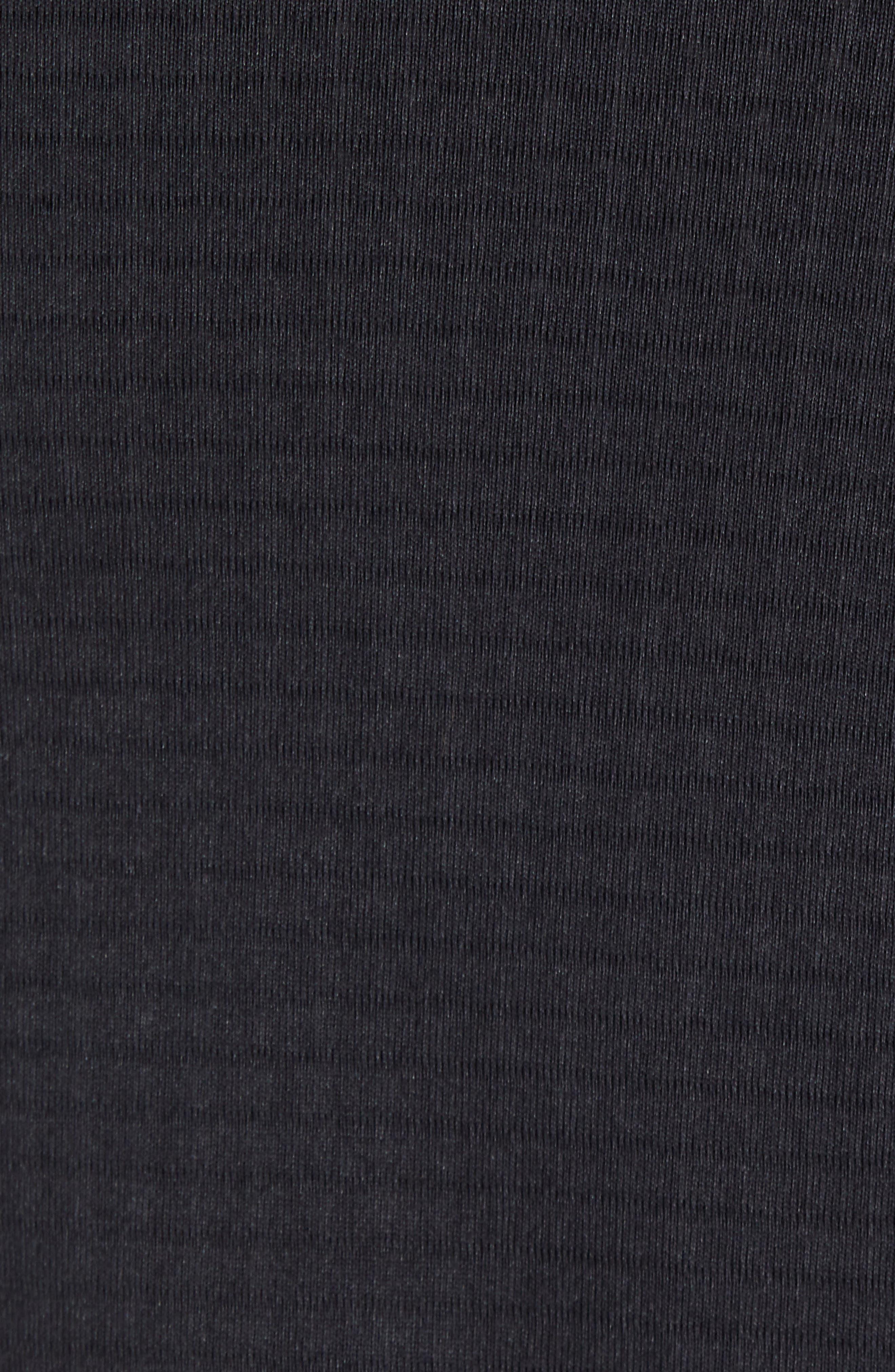 PATAGONIA, R1<sup>®</sup> Full-Zip Hoodie, Alternate thumbnail 5, color, BLACK