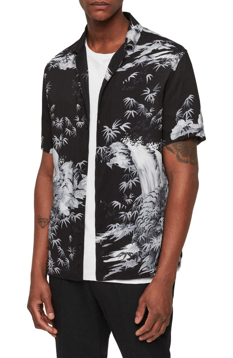 Allsaints T-shirts JAVA SLIM FIT SHORT SLEEVE SPORT SHIRT