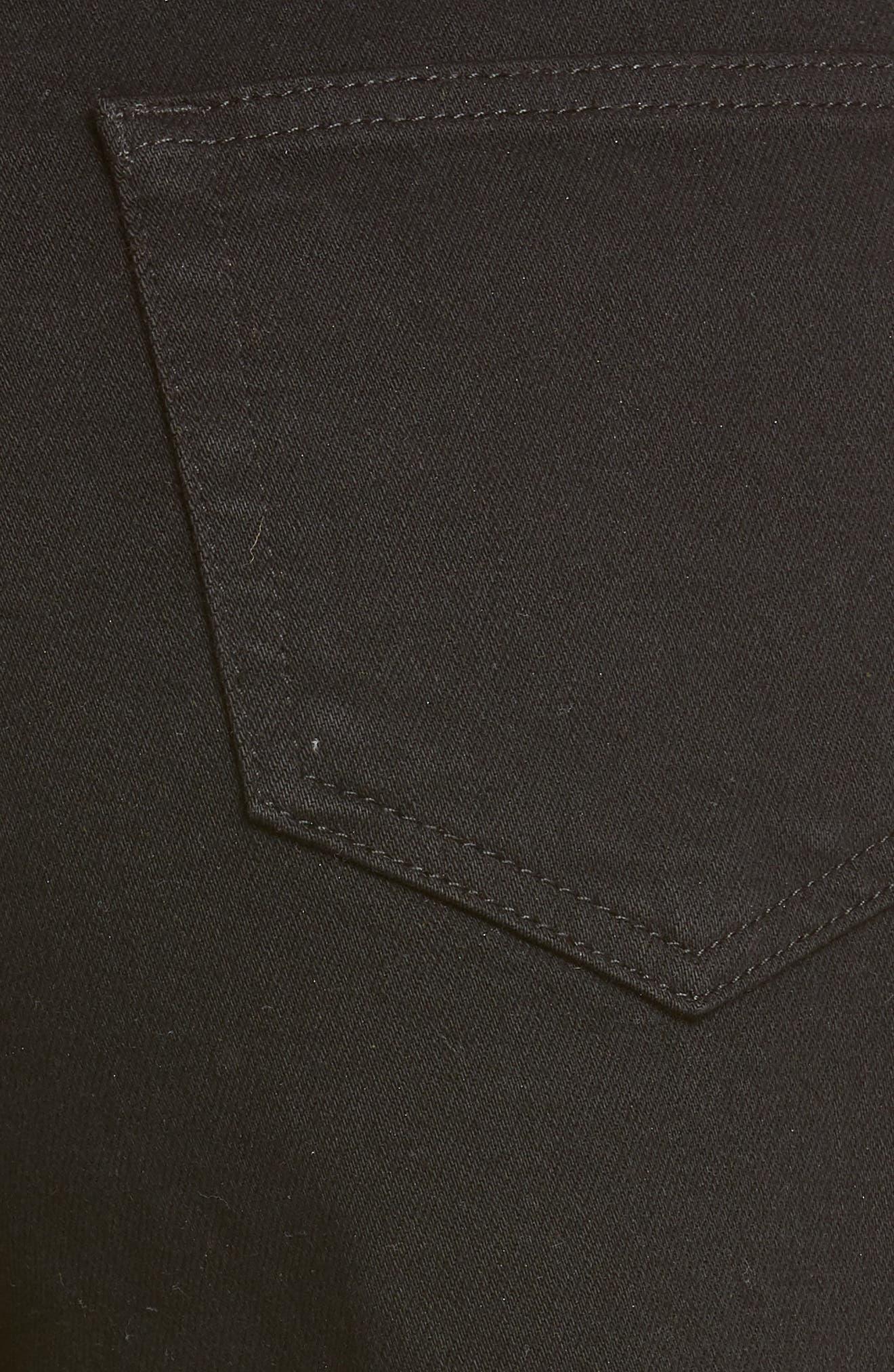 L'AGENCE, Ryland High Waist Denim Shorts, Alternate thumbnail 6, color, NOIR