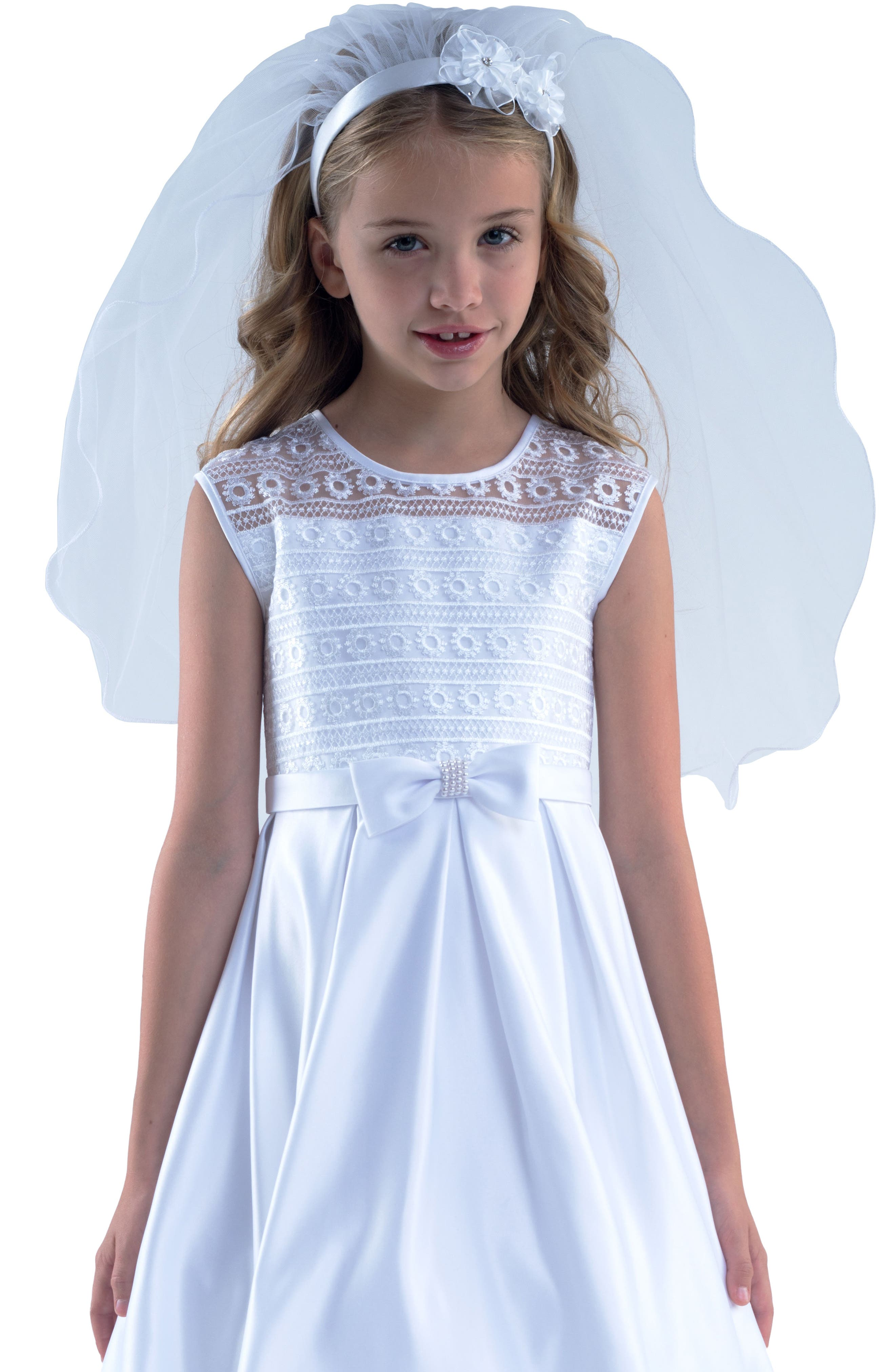 Us Angels Communion Headband With Veil Size One Size  White