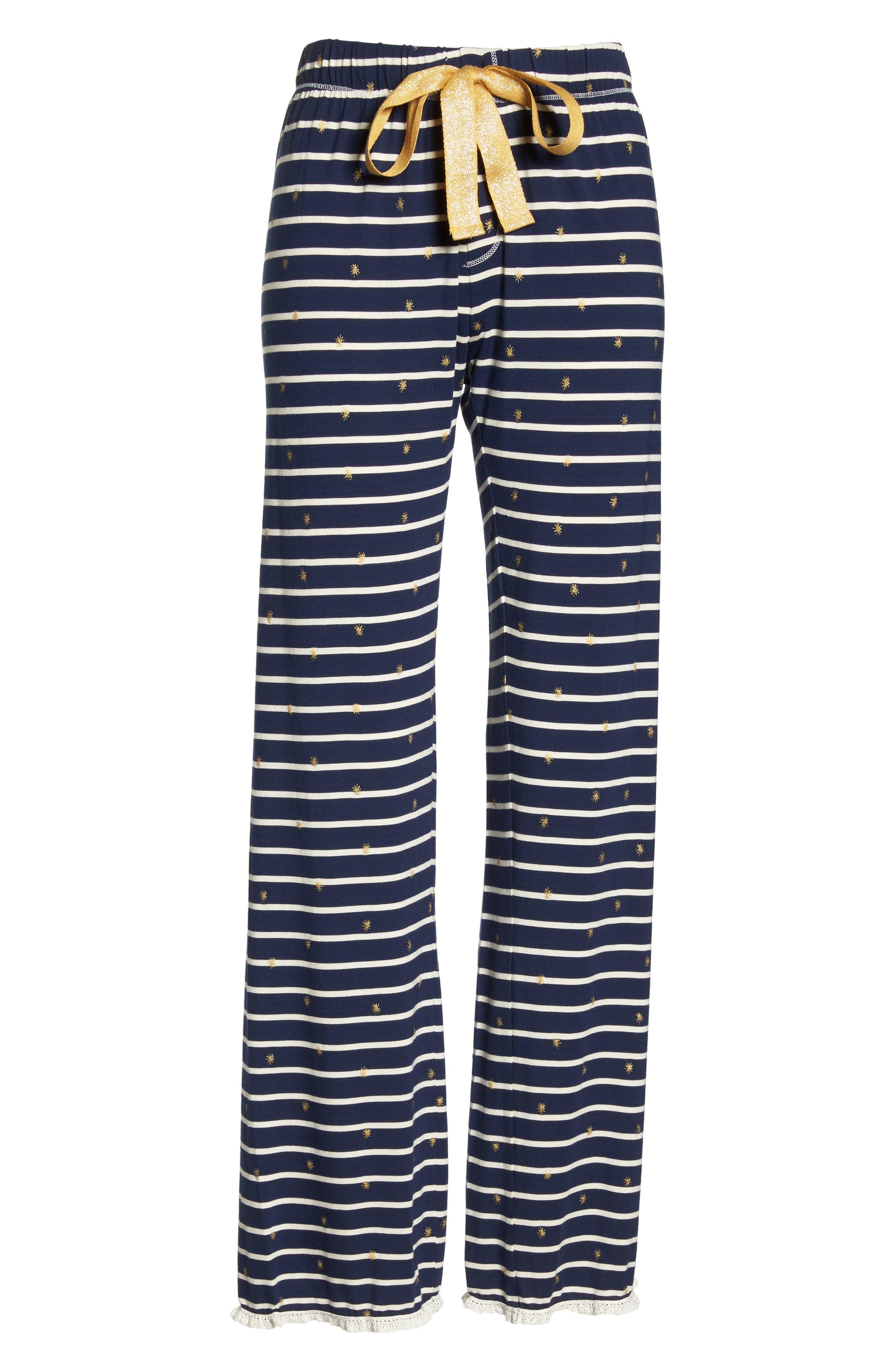 HATLEY, Cozy Pajama Pants, Alternate thumbnail 6, color, BLUE