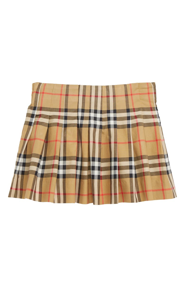 23cadd7b53981 Burberry Pearl Pleated Vintage Check Skirt (Toddler Girls