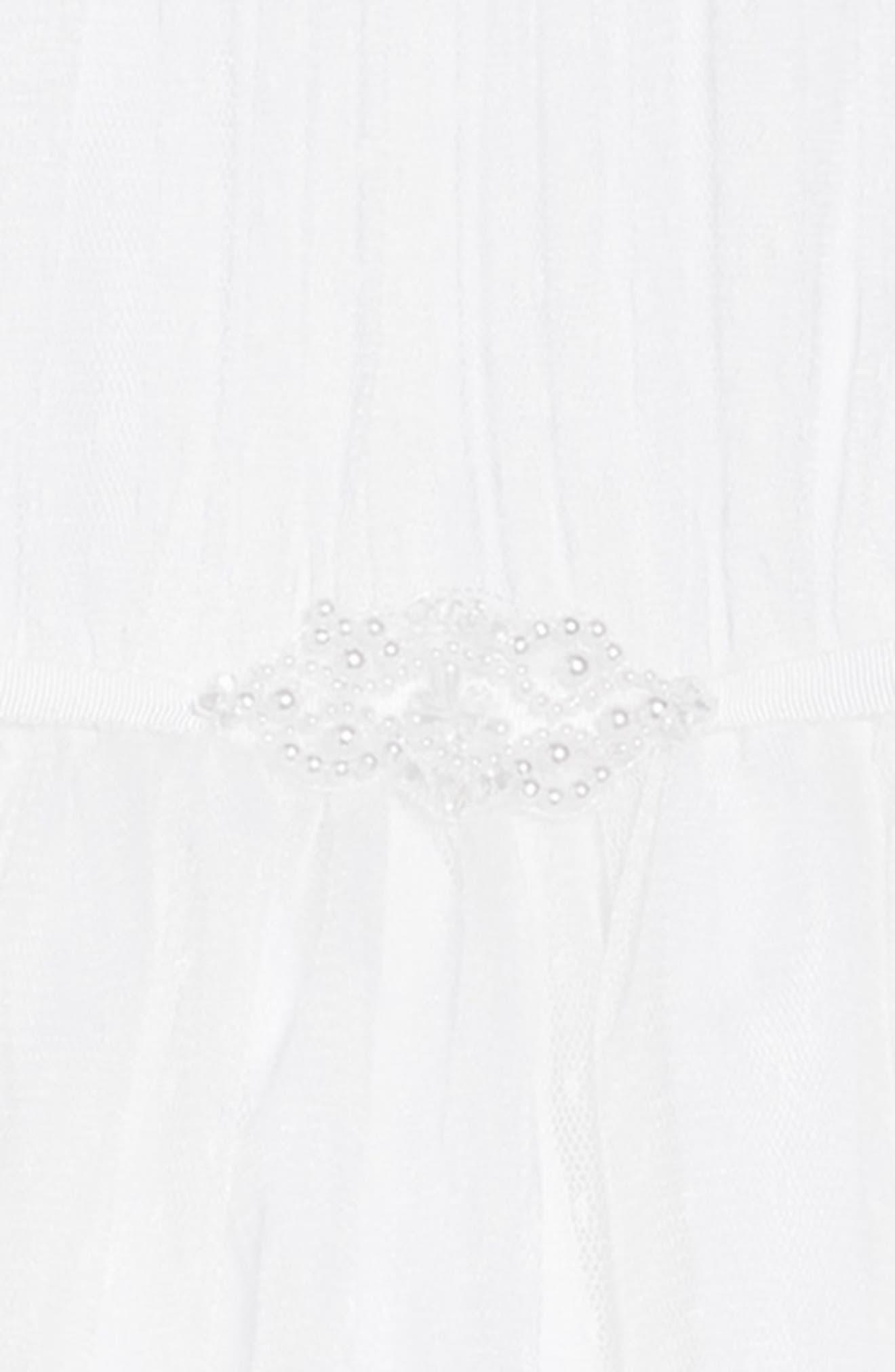 US ANGELS, Illusion Neckline Dress, Alternate thumbnail 4, color, WHITE
