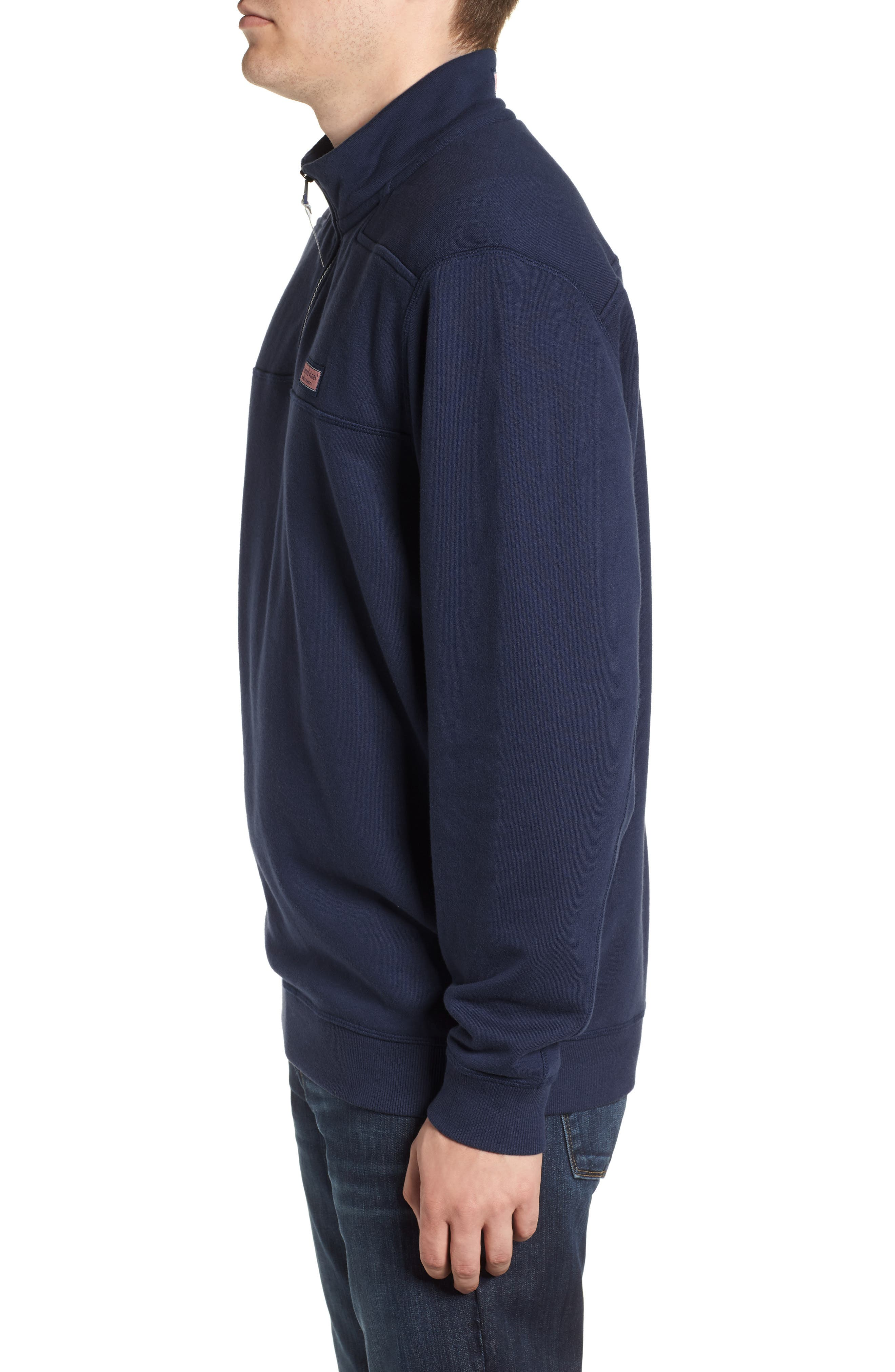 VINEYARD VINES, Collegiate Half Zip Pullover, Alternate thumbnail 3, color, VINEYARD NAVY