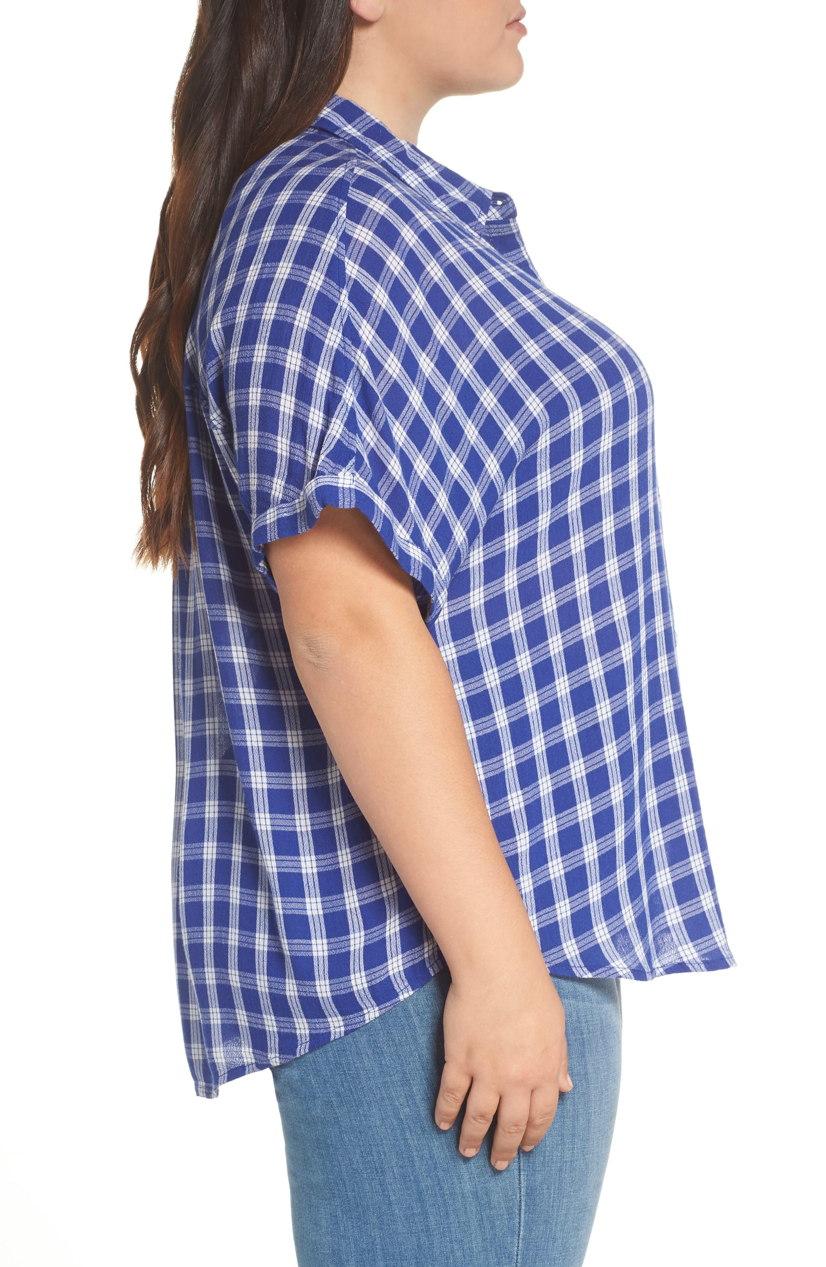 BP., Plaid Dolman Sleeve Shirt, Alternate thumbnail 9, color, 420
