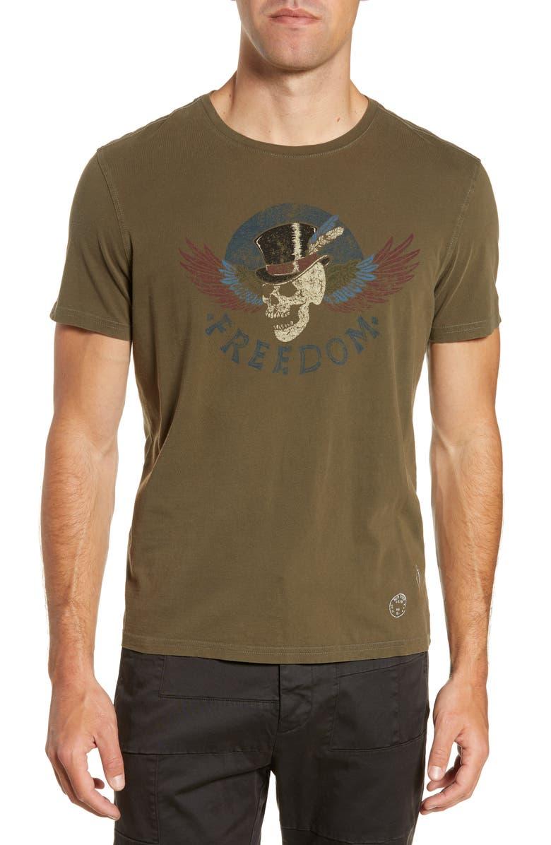 John Varvatos T-shirts FREEDOM SKULL T-SHIRT