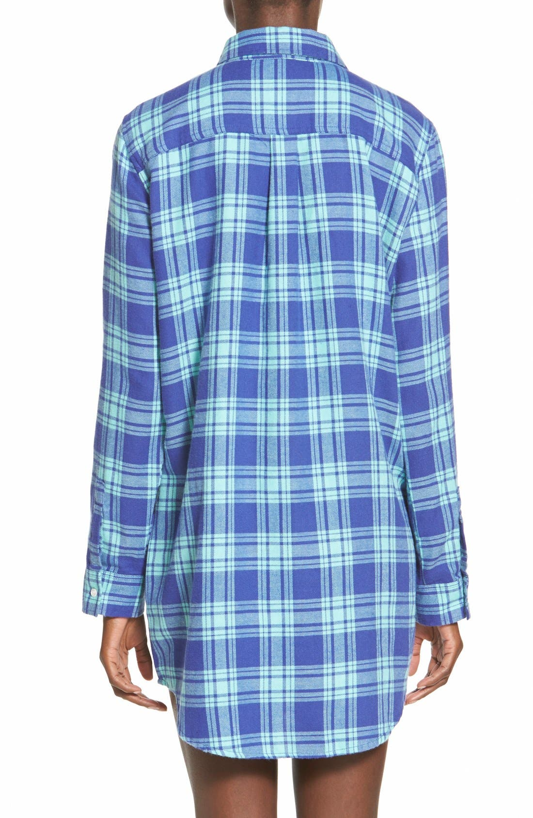 BP. UNDERCOVER, Flannel Night Shirt, Alternate thumbnail 2, color, 440